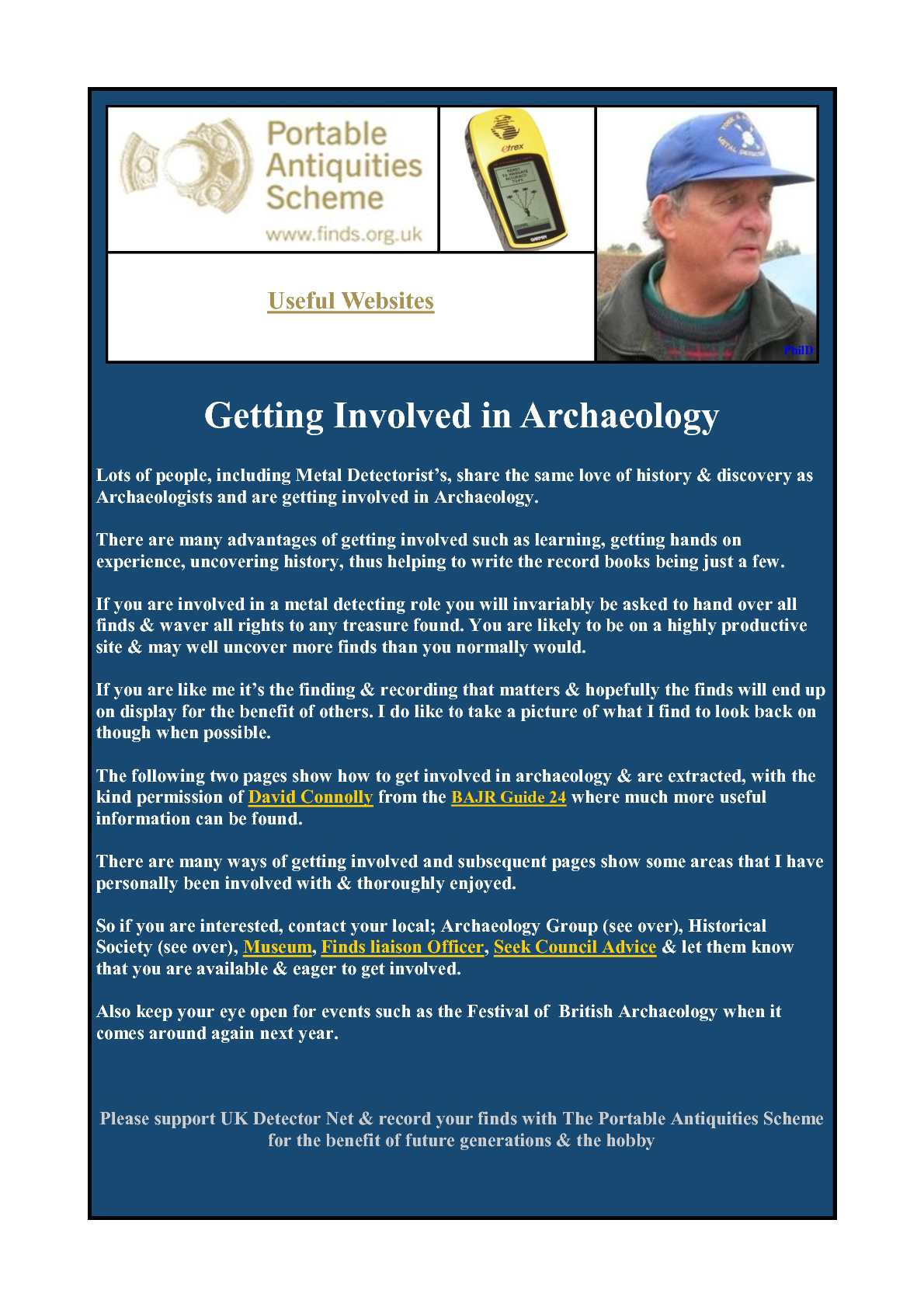 UKDN Word Issue 25 supplement - Getting involved in archaeology