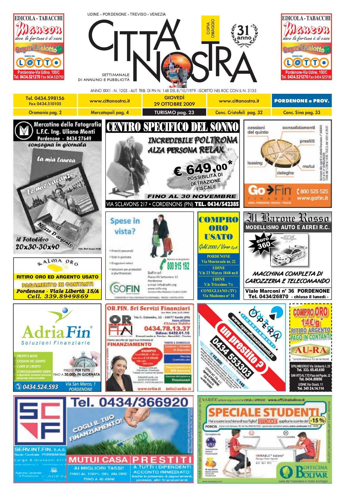 Calaméo Citt Nostra Pordenone Del 29 10 2009 N 1203