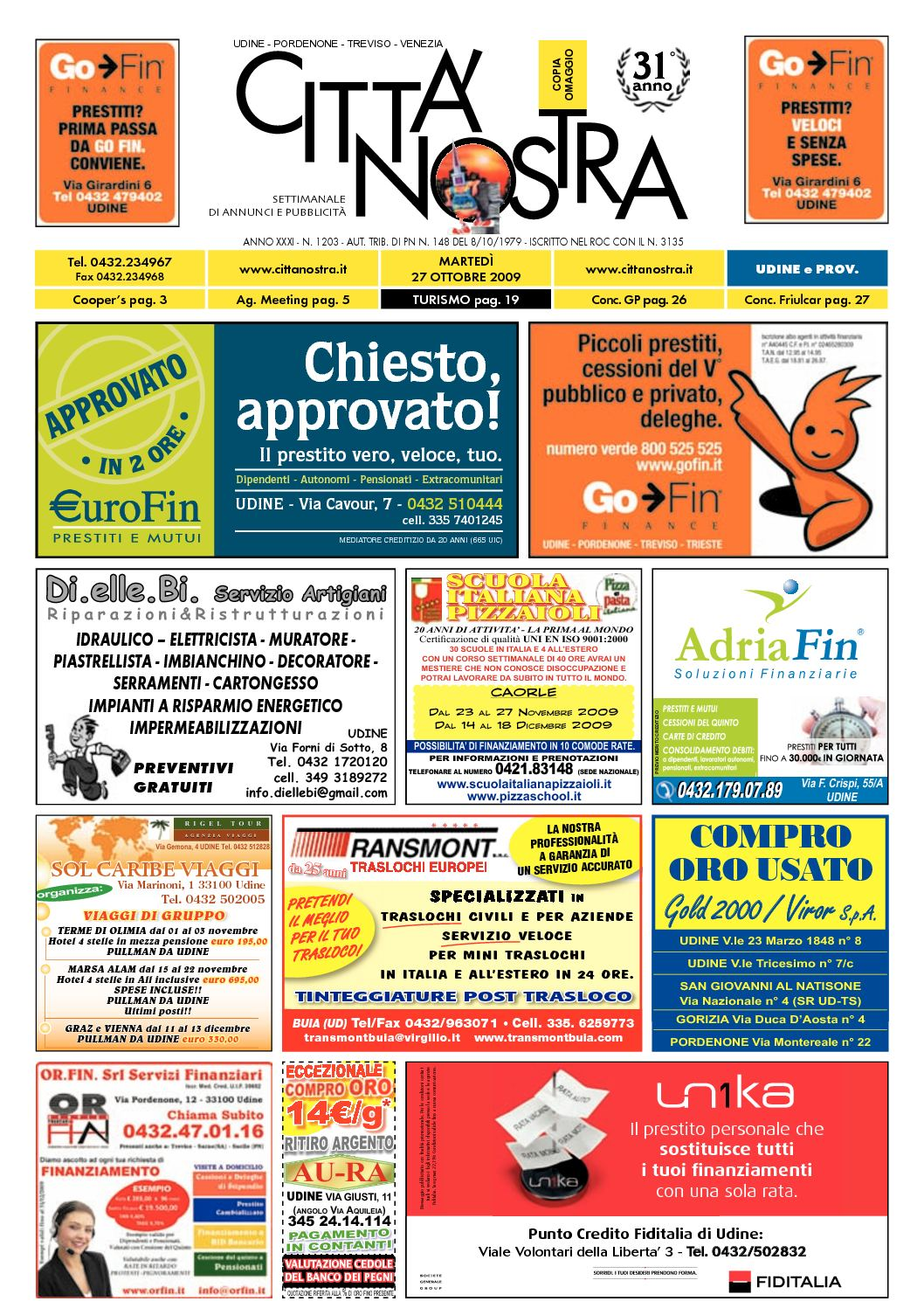 Calaméo Citt Nostra Udine Del 27 10 2009 N 1203