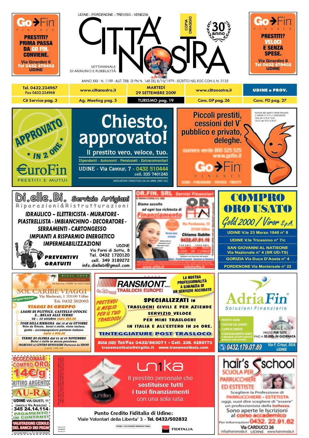 Calaméo Citt Nostra Udine Del 29 09 2009 N 1199