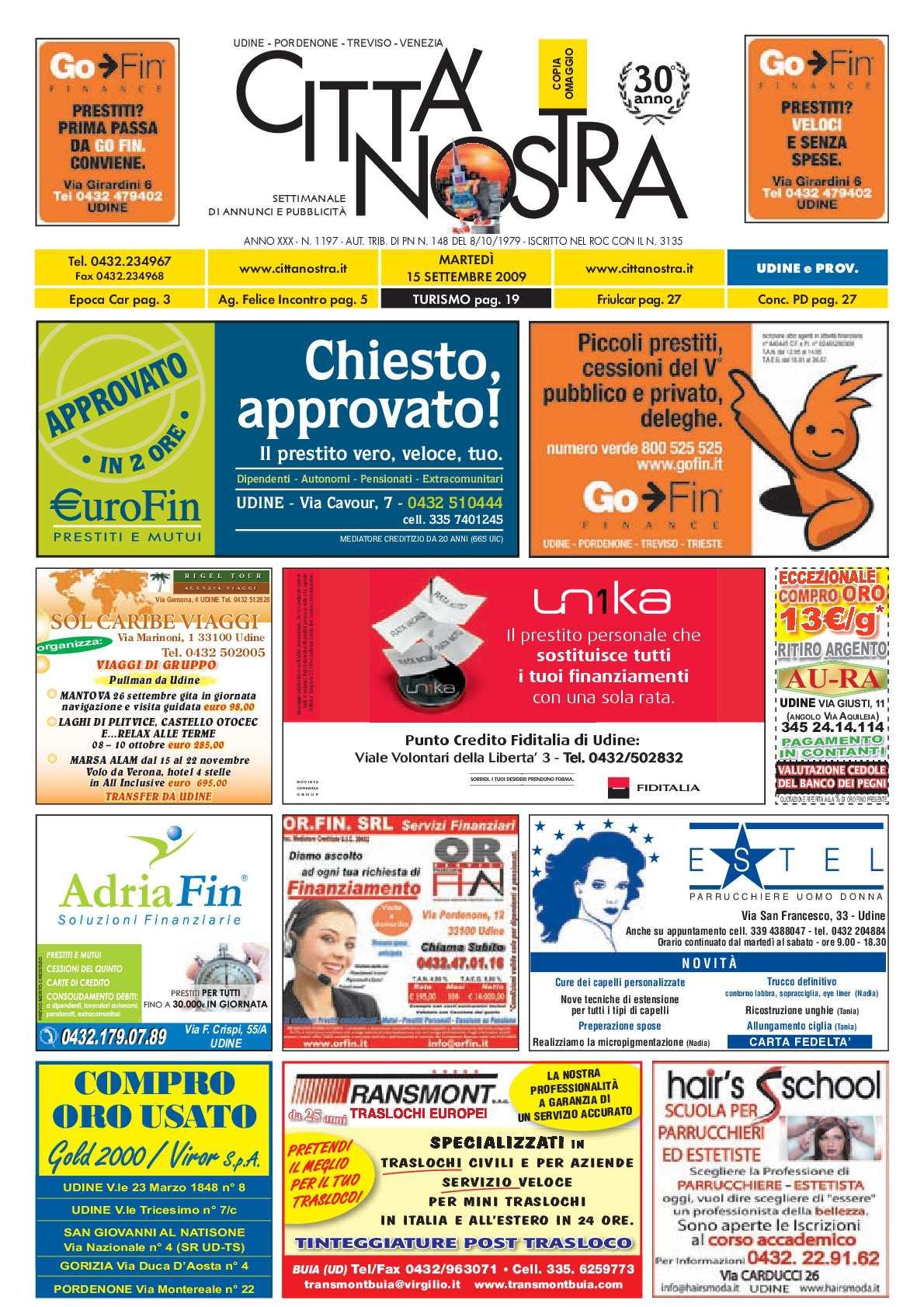 Calaméo Citt Nostra Udine Del 15 09 2009 N 1197
