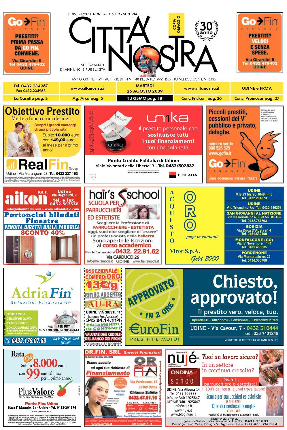 Calaméo Citt Nostra Udine Del 25 08 2009 N 1194