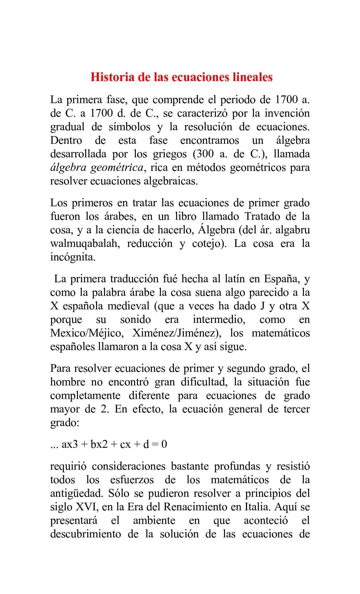 Calaméo - ALGO DE HISTORIA DE LAS ECUACIONES