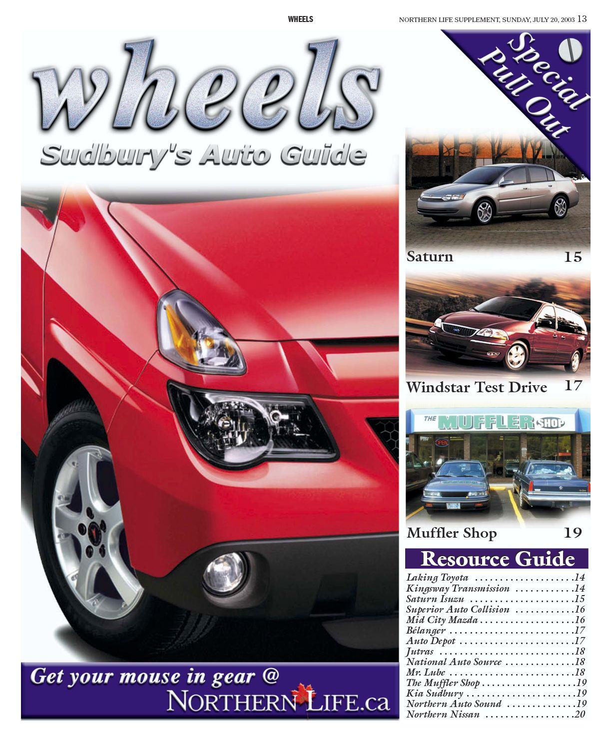 Calamo Wheelsjuly2003 2003 Ford Windstar Exhaust System