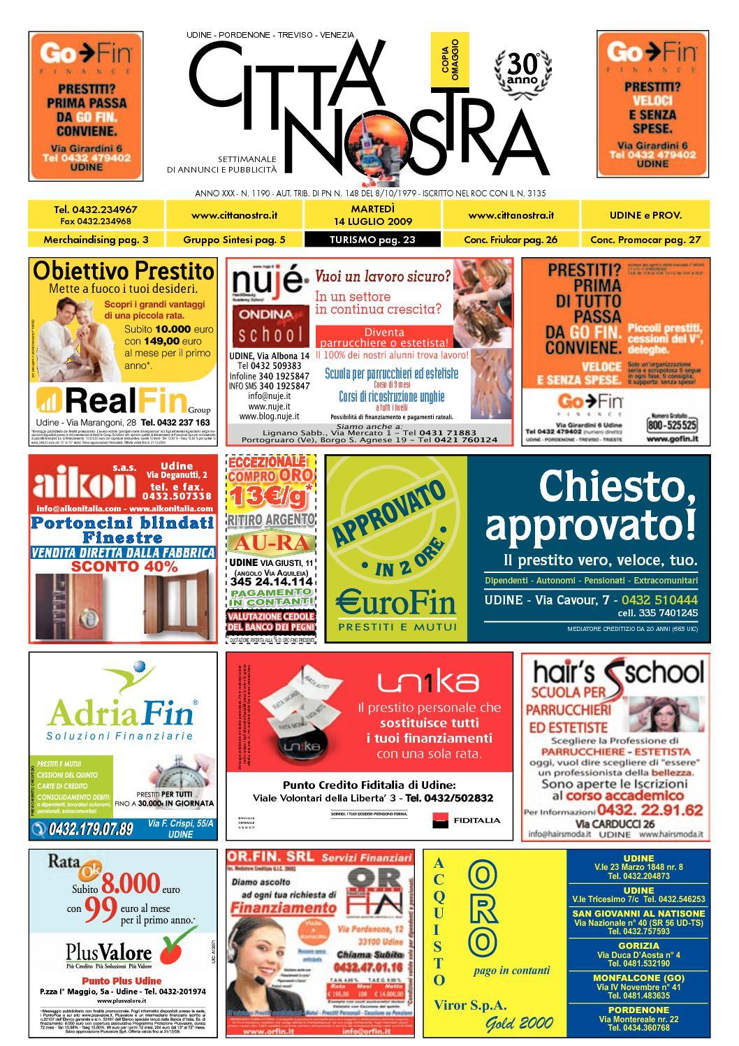 Calaméo Citt Nostra Udine Del 14 07 2009 N 1190