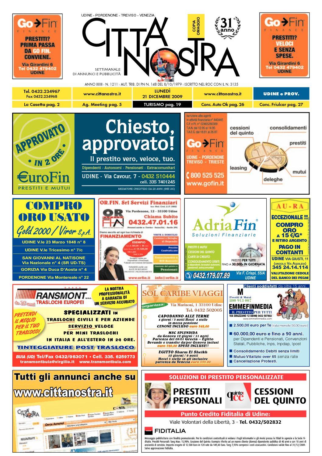 Calaméo Citt Nostra Udine Del 21 12 2009 N 1211