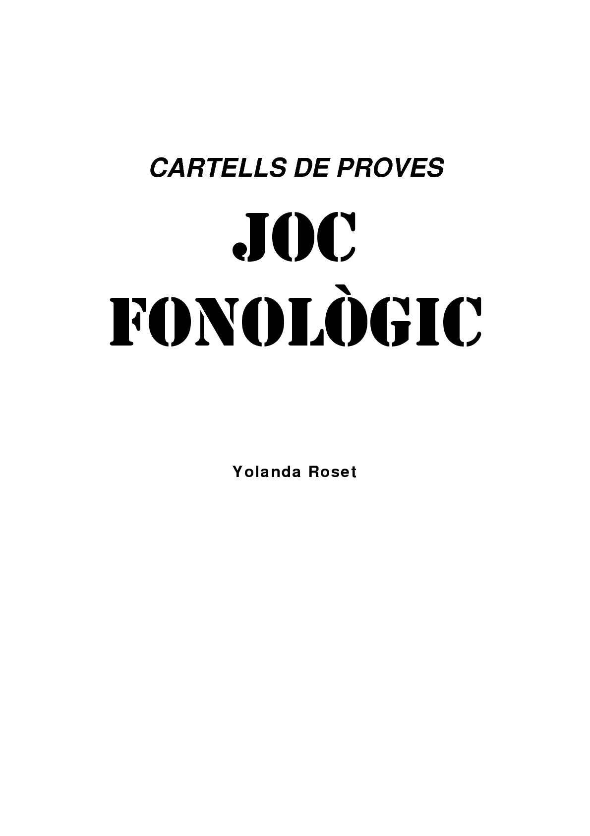 cartells joc fonologic