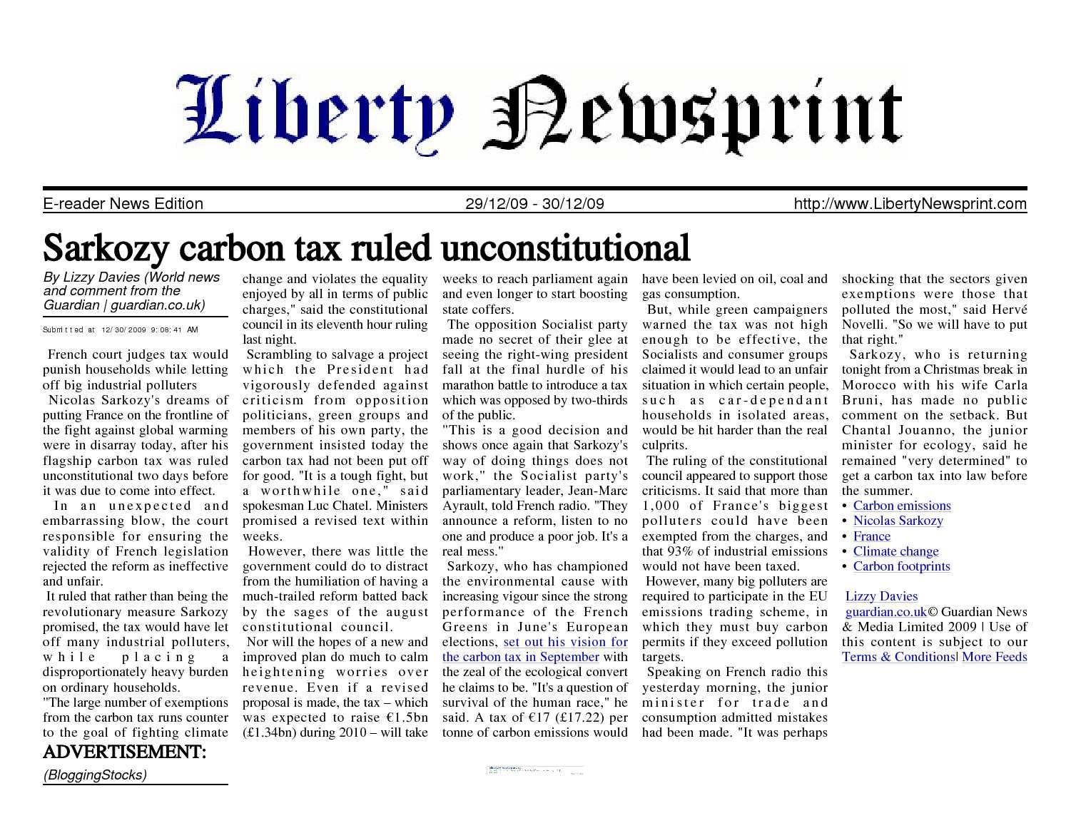 Calamo liberty newsprint dec 30 09 fandeluxe Images