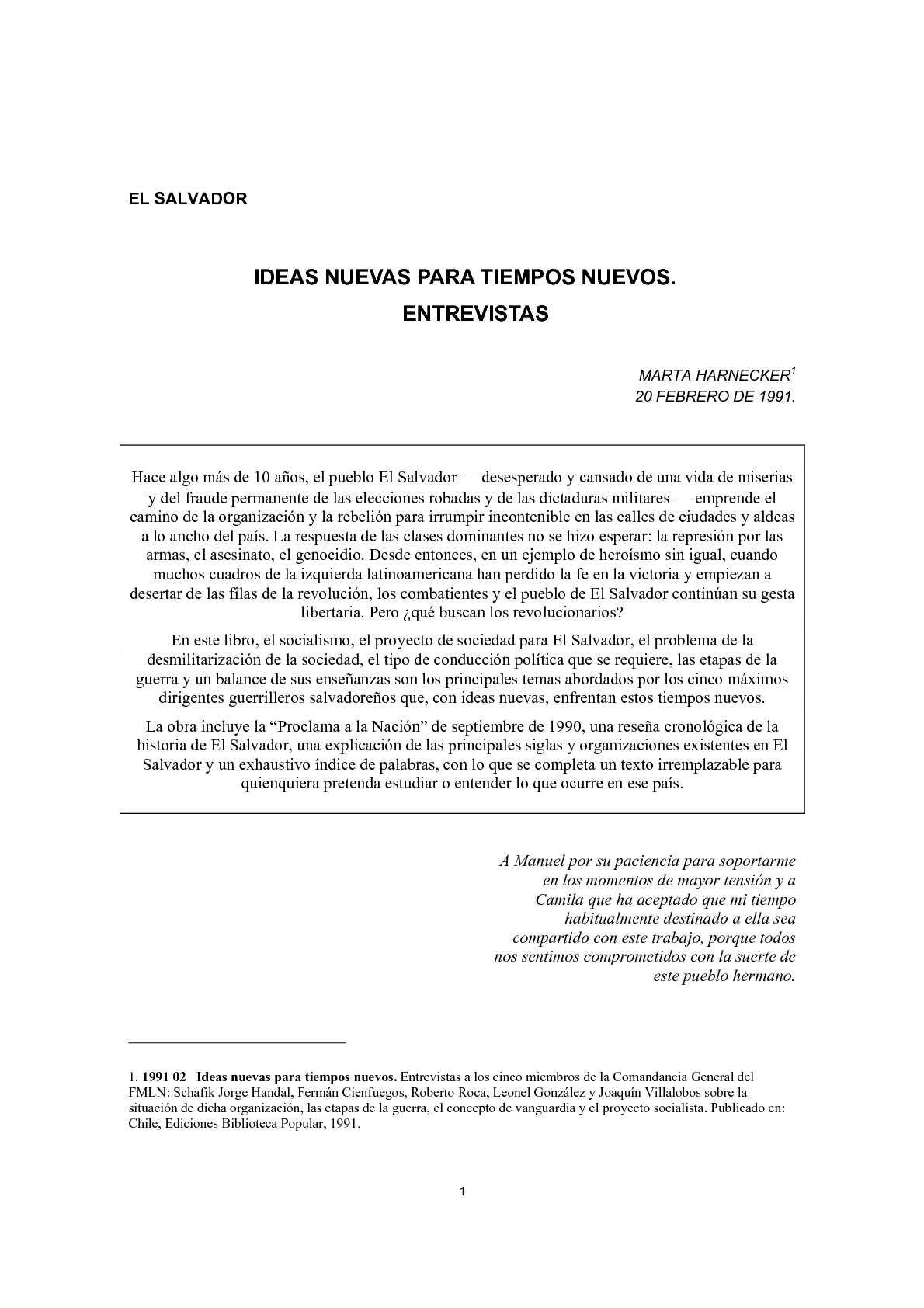 Calaméo - EL MARTA HARNECKER. SALVADOR: IDEAS NUEVAS PARA TIEMPOS ...