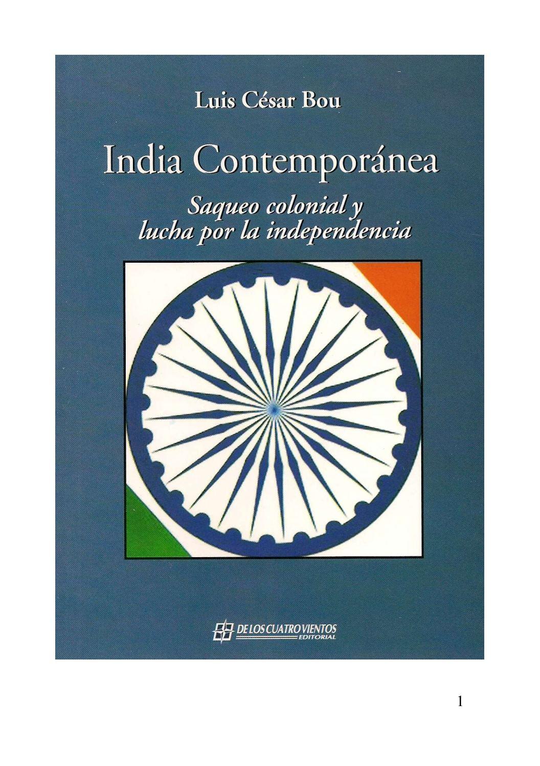 Calaméo - Luis César Bou. INDIA CONTEMPORANEA: SAQUEO COLONIAL Y ...