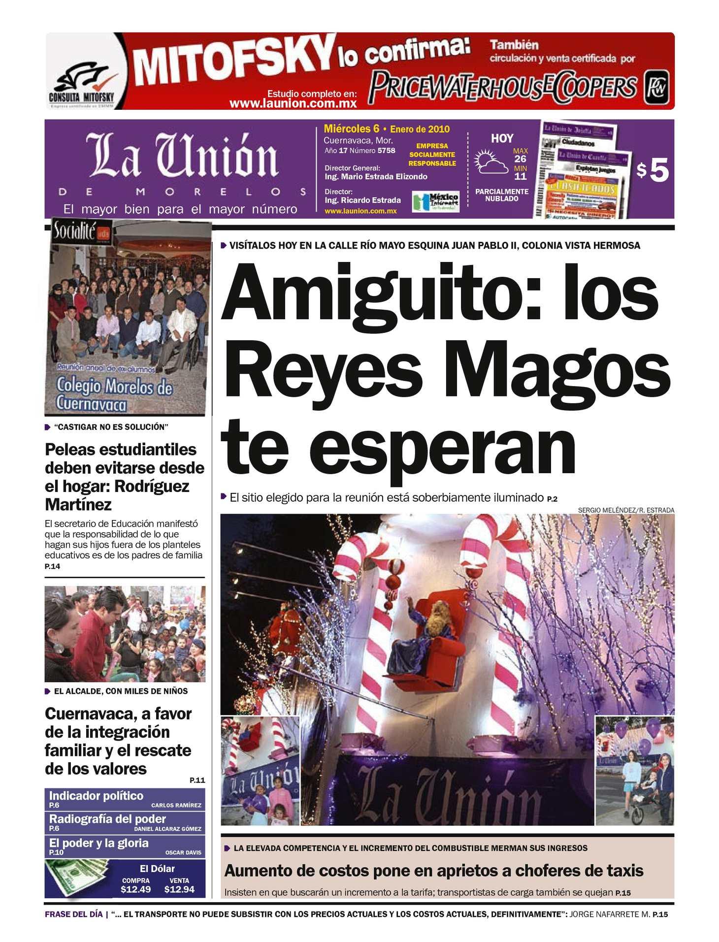 Calaméo - La Unión de Morelos 06 Enero 2010