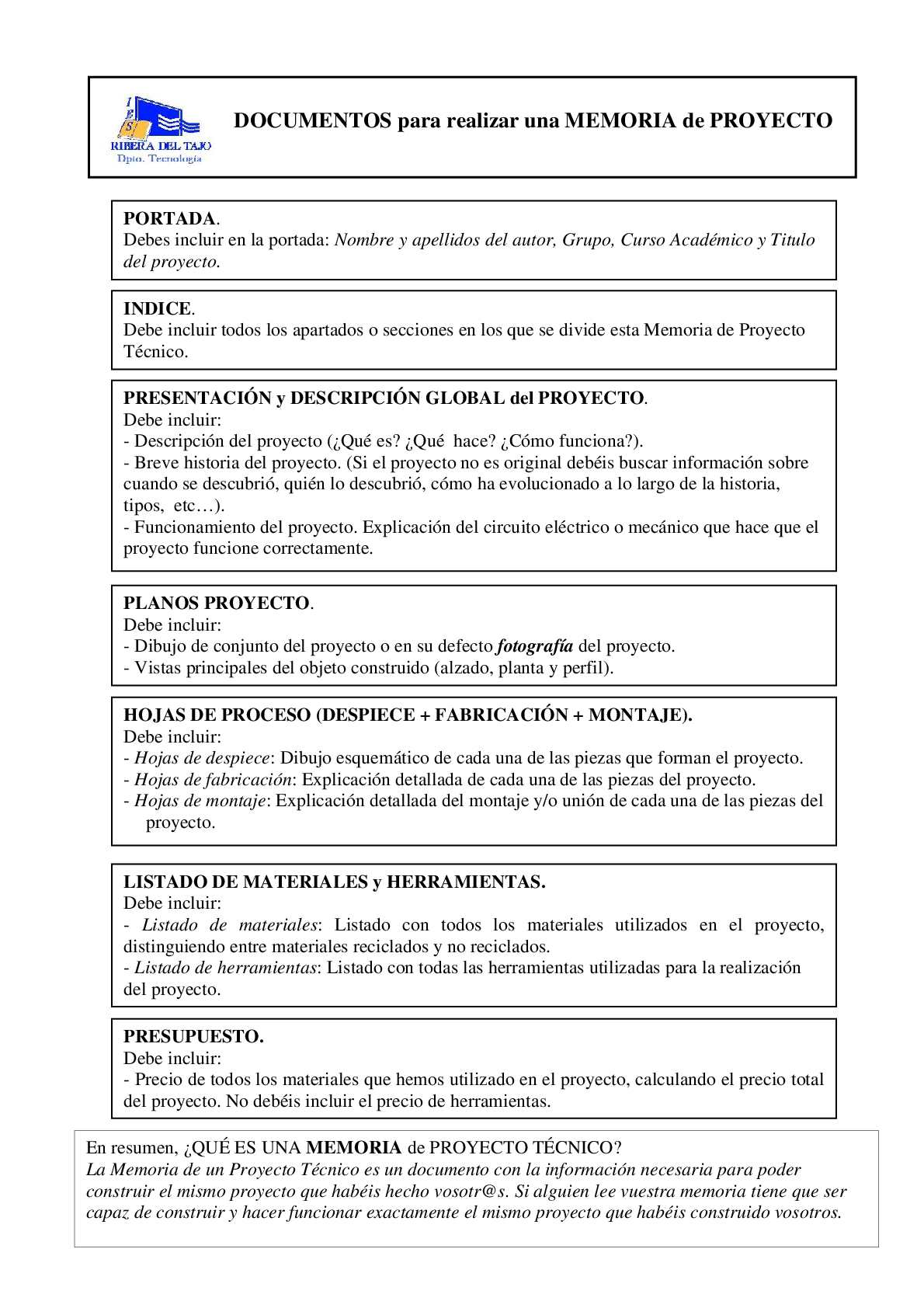 Calaméo - Resumen Memoria Proyecto Tecnico
