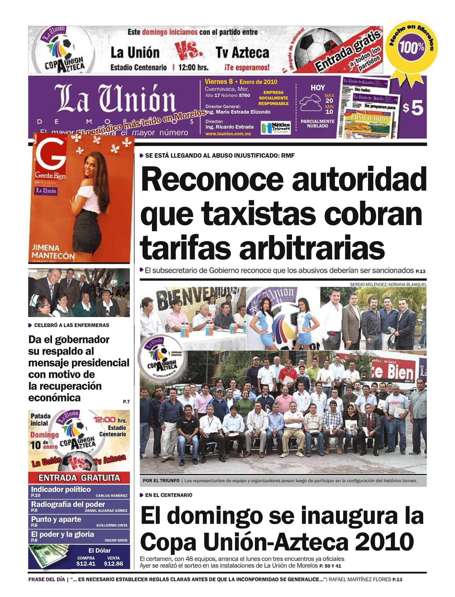 Calaméo - La Unión de Morelos 08 Enero 2010
