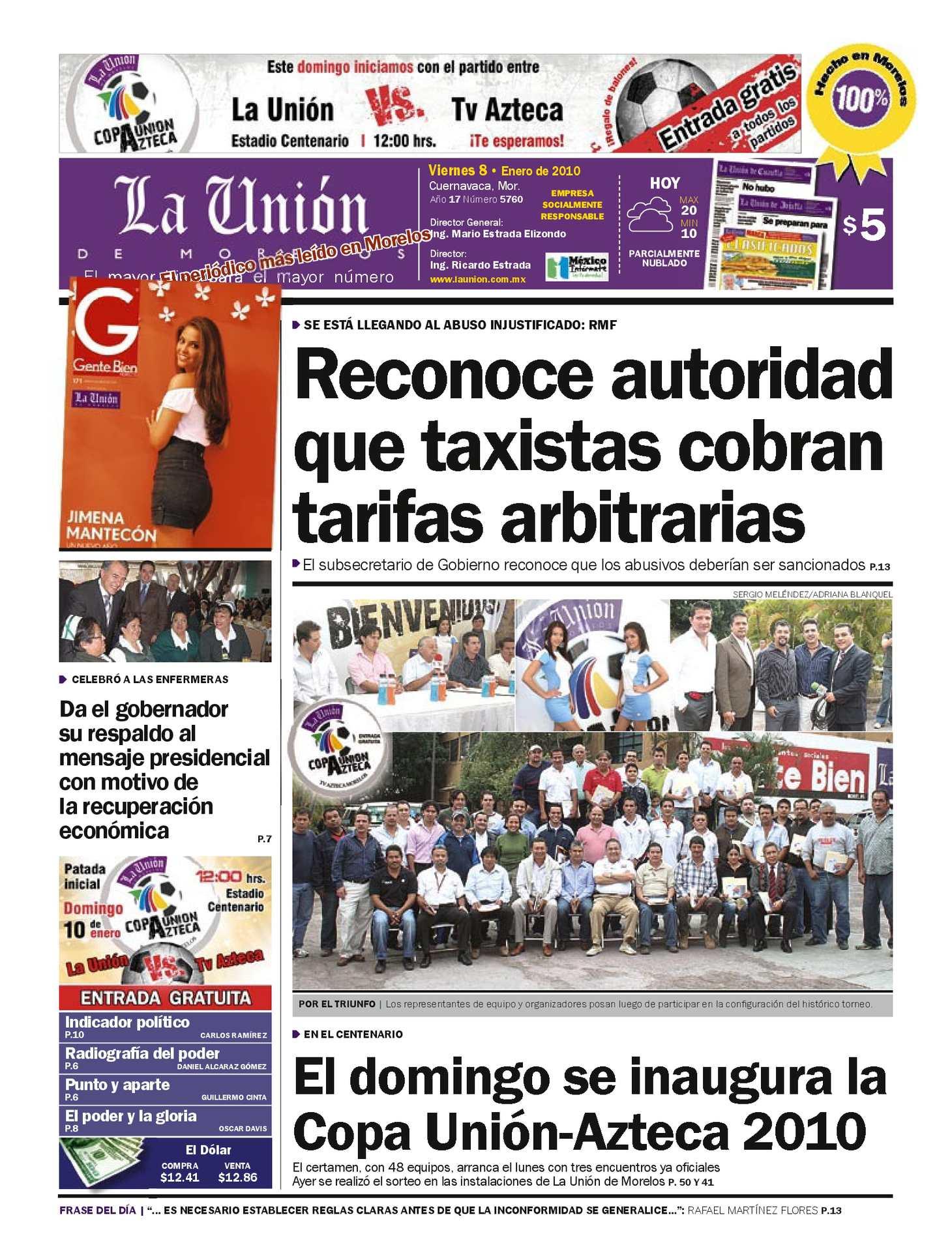 Calaméo - La Unión de Morelos 09 Enero 2010