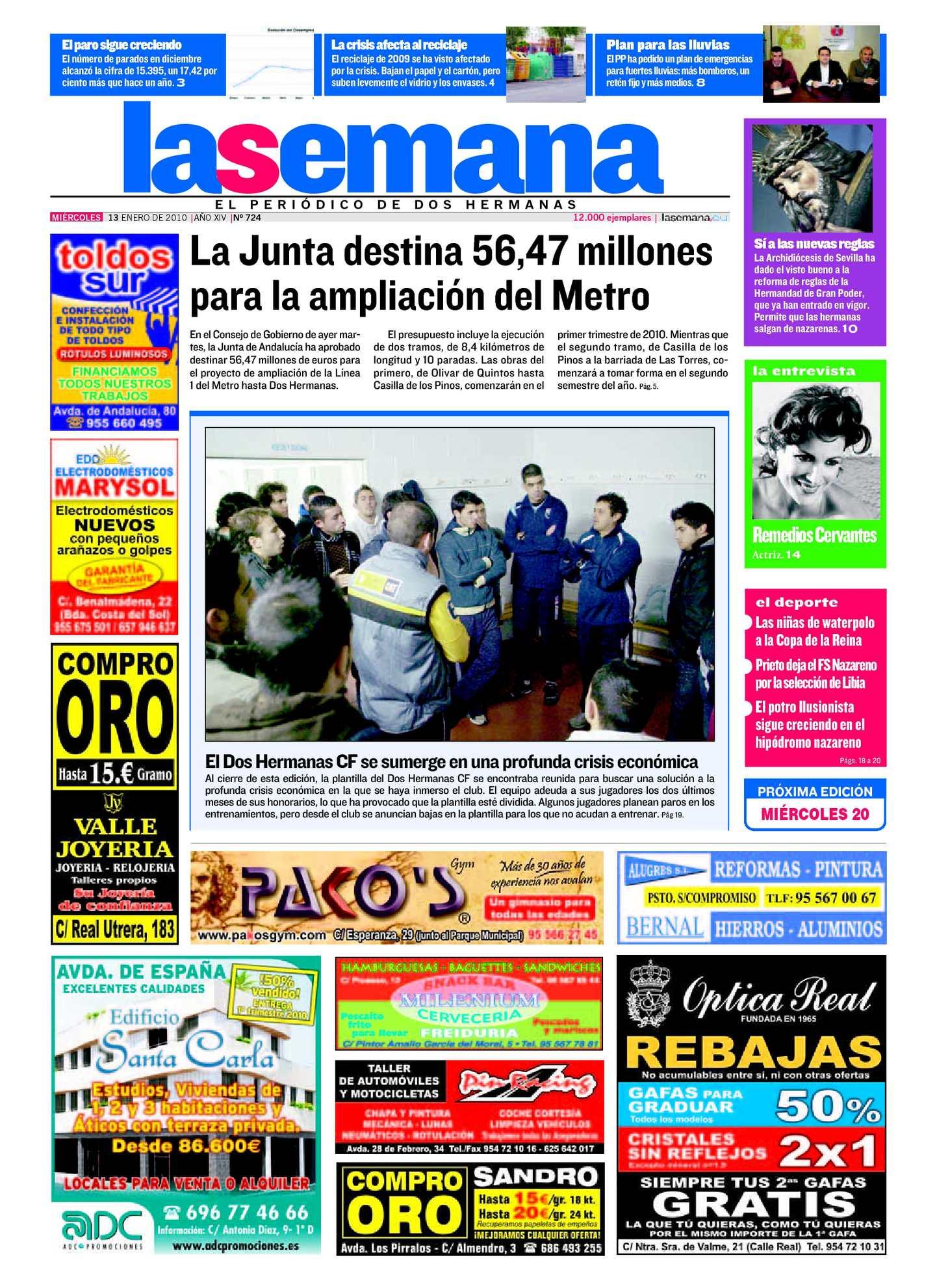 Calaméo - Periódico La Semana de Dos Hermanas Nº 724. 13/1/2010