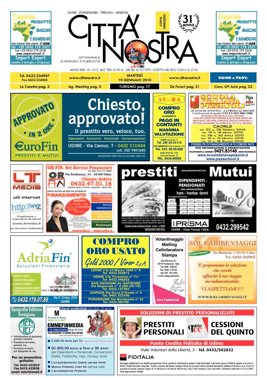 Calaméo Citt Nostra Udine Del 19 01 2010 N 1213