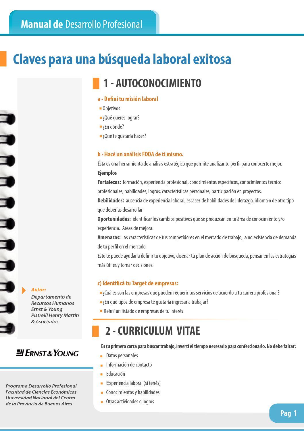 Calaméo - Desarrollo Profesional - Claves para la búsqueda laboral ...
