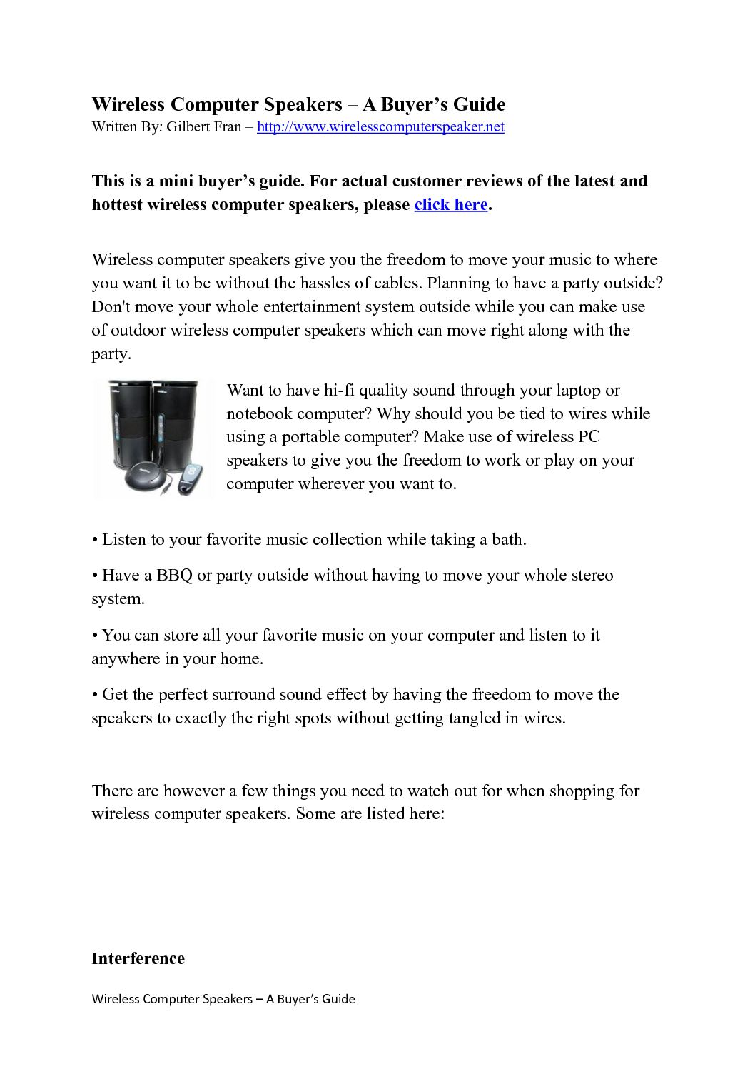 Calamo Wireless Computer Speakers Reviews Sound System Guide