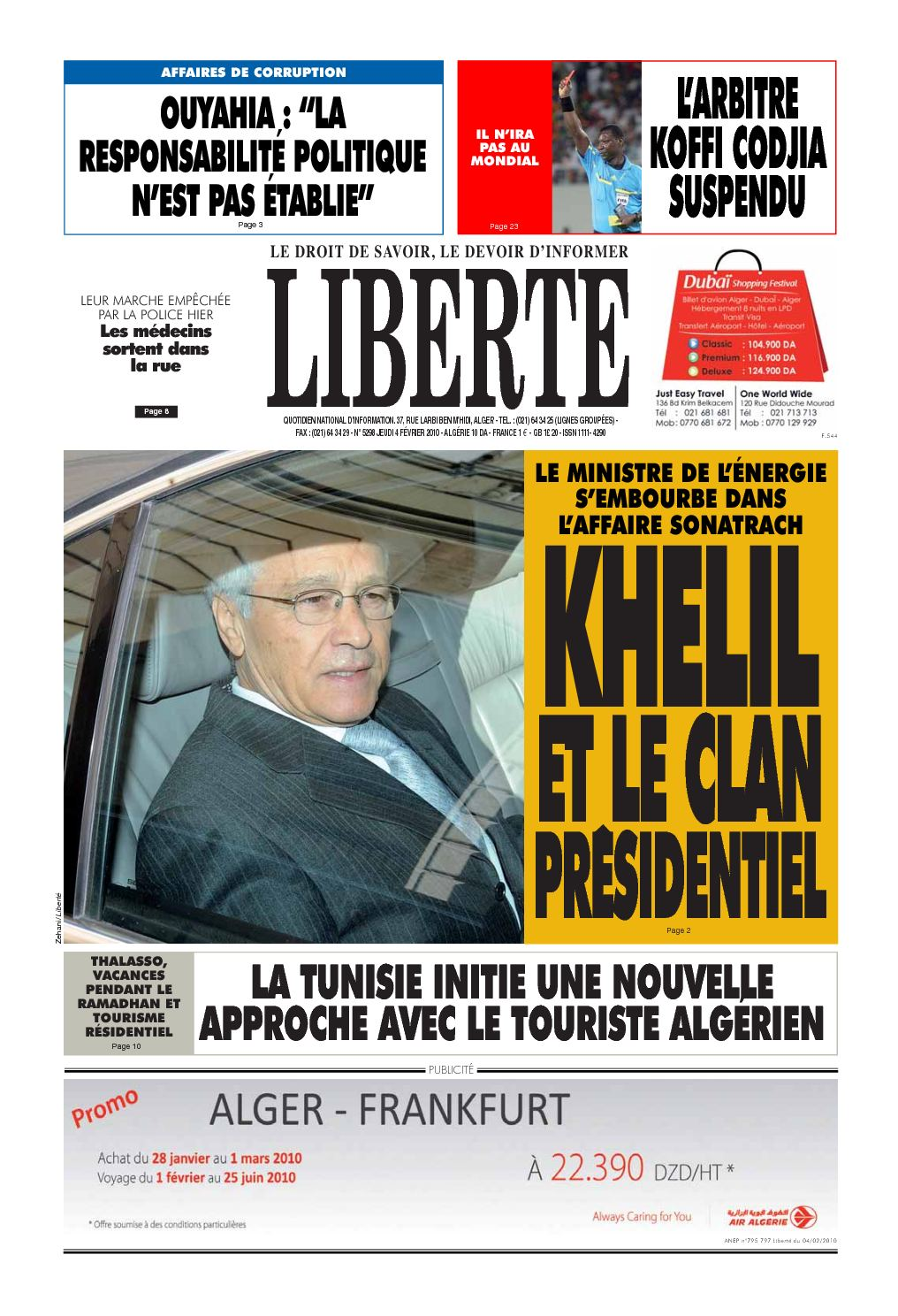 liberte 2010 Du Liberte Algerie Fevrier 04 Calaméo zxqPTRFwF