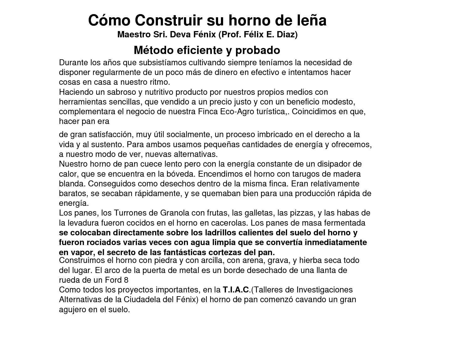Construir Un Horno De Lea Amazing Hacer Horno De Lea Casero With