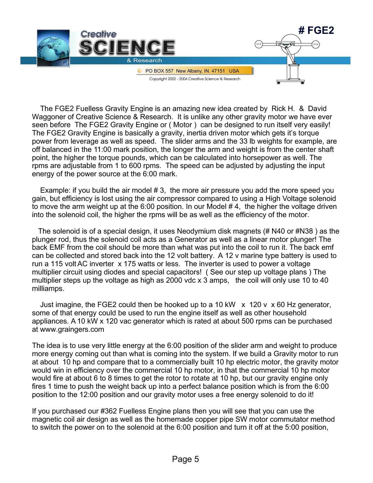 fuelless engine plans free download pdf