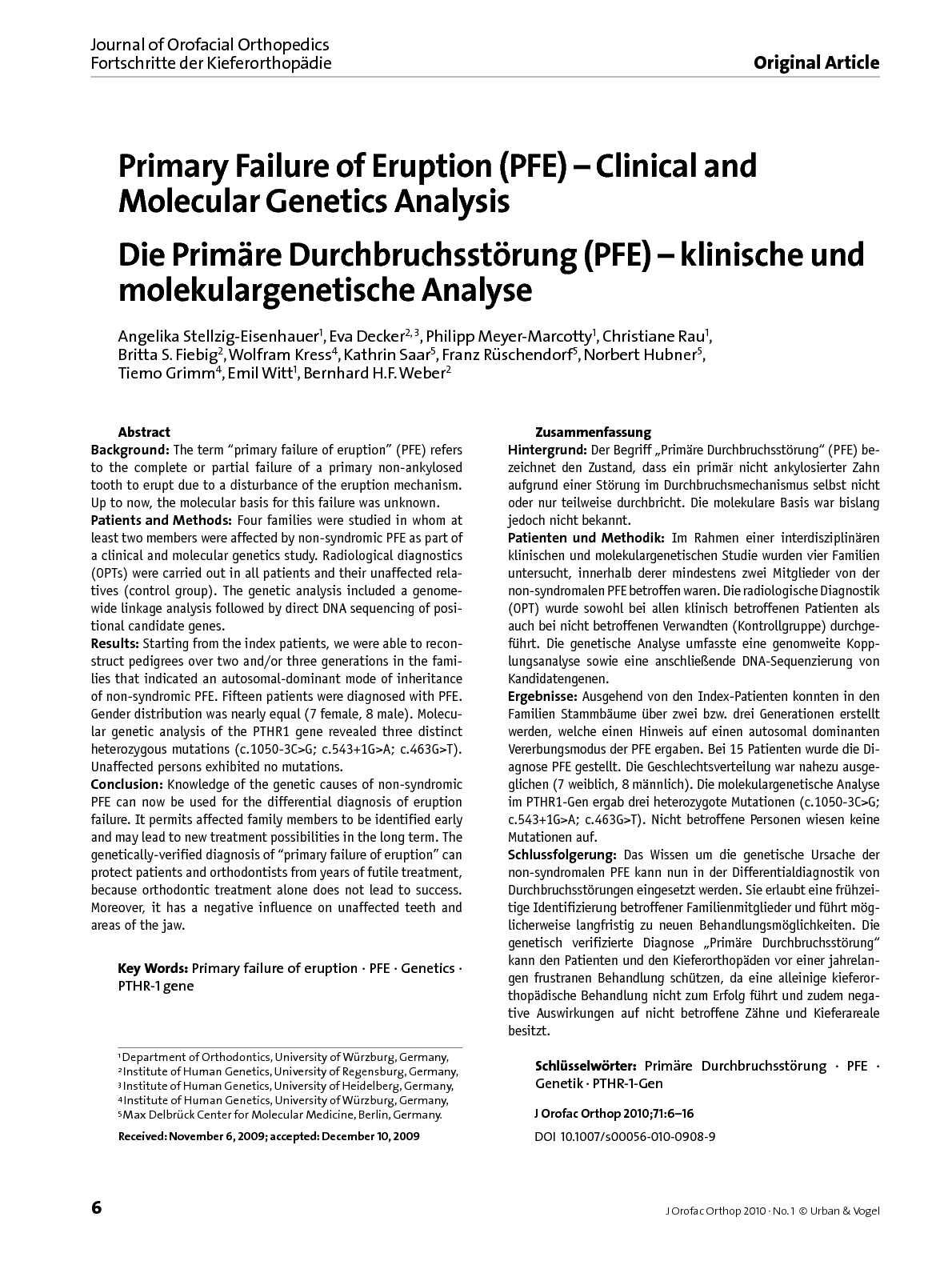Calaméo - Journal of Orofacial Orthopedics Vol 71 num 1 january 2010
