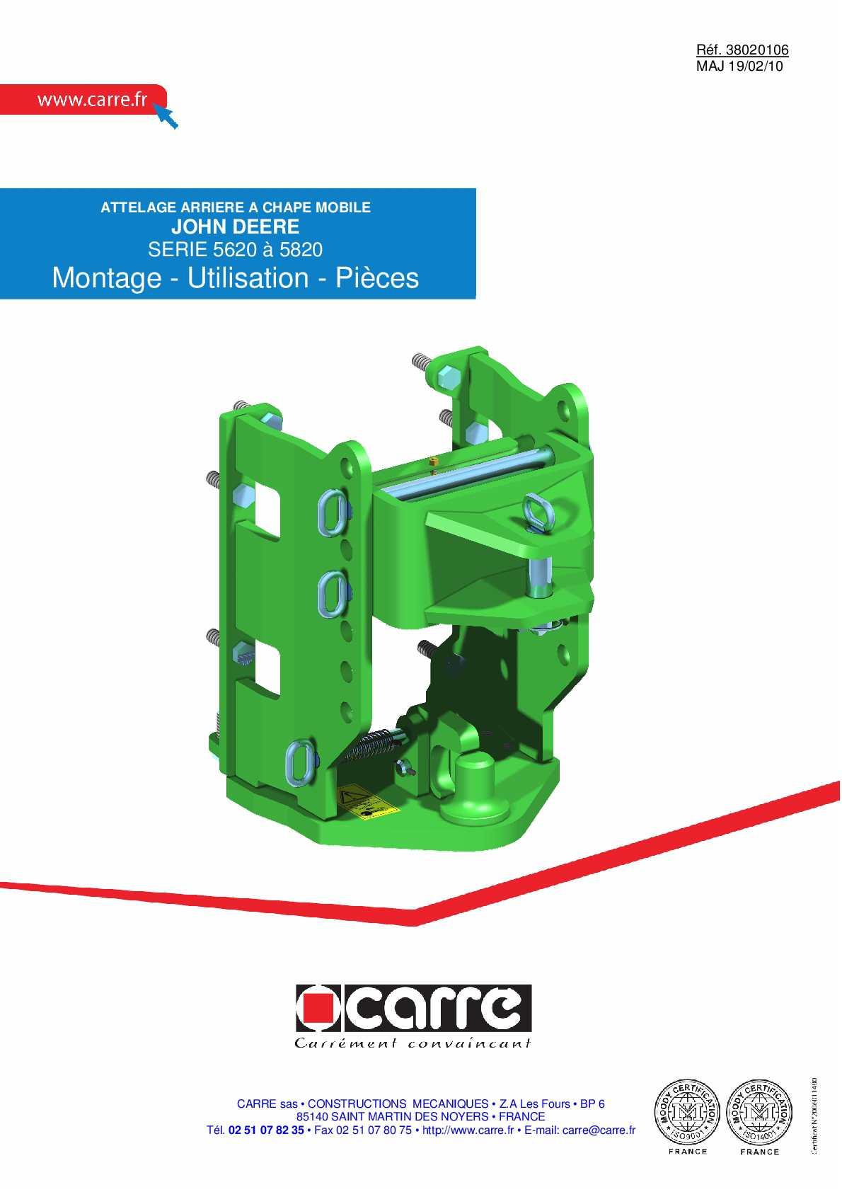 Calam o attelage john deere 5620 5820 - Mesurer hygrometrie d une piece ...