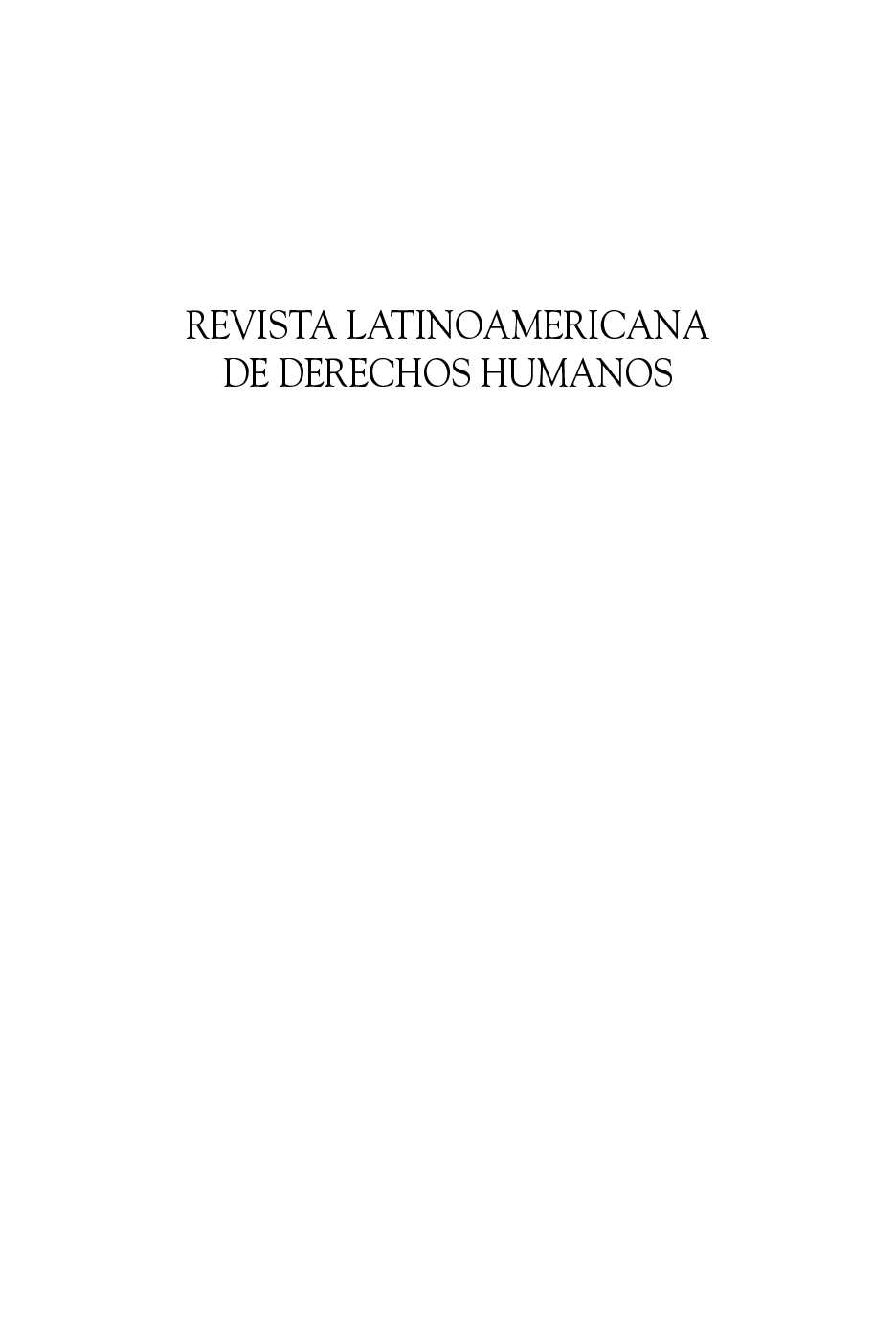 Calaméo - REVISTA LATINOAMERICANA DE DERECHOS HUMANOS 19