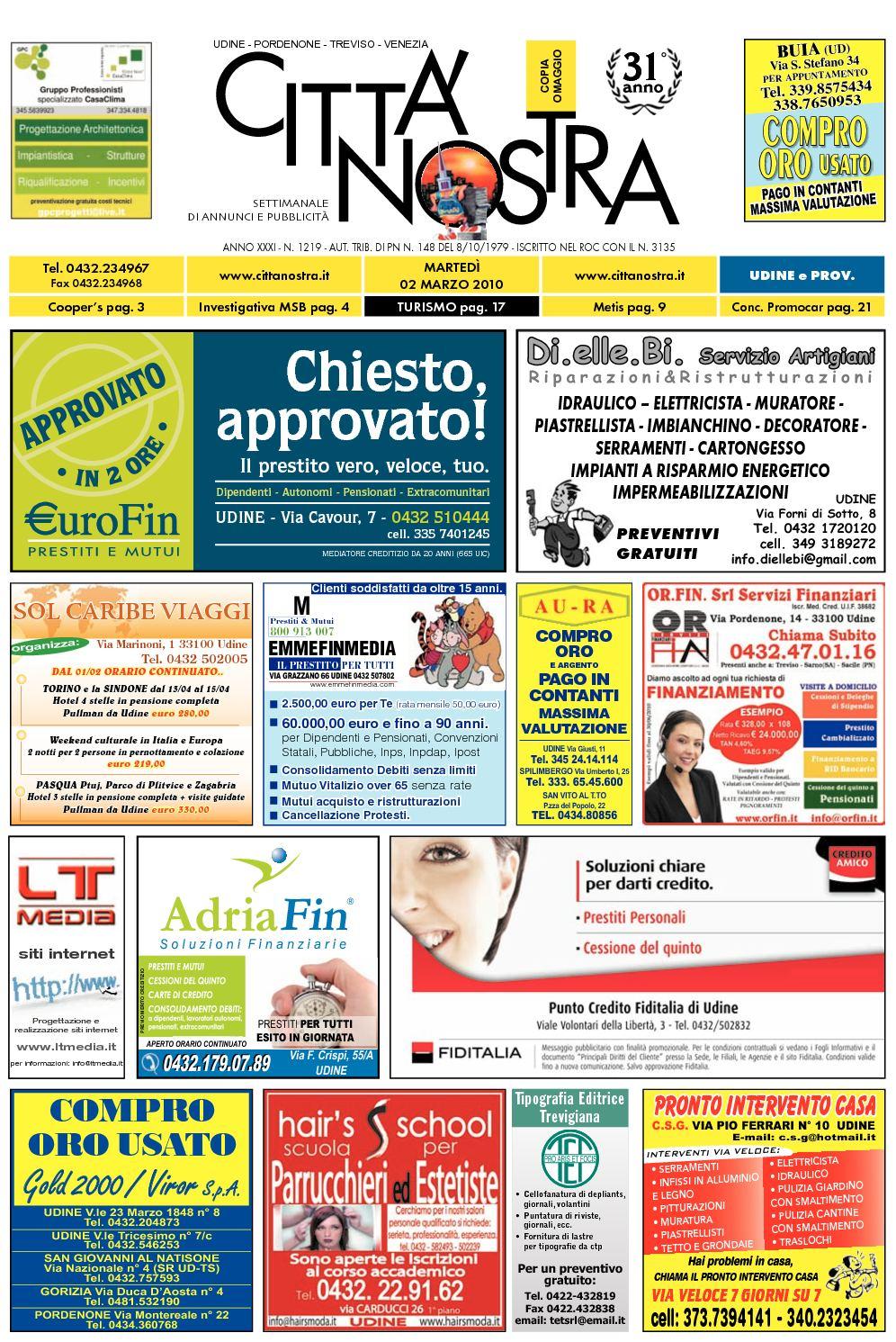 Calaméo Citt Nostra Udine Del 02 03 2010 N 1219