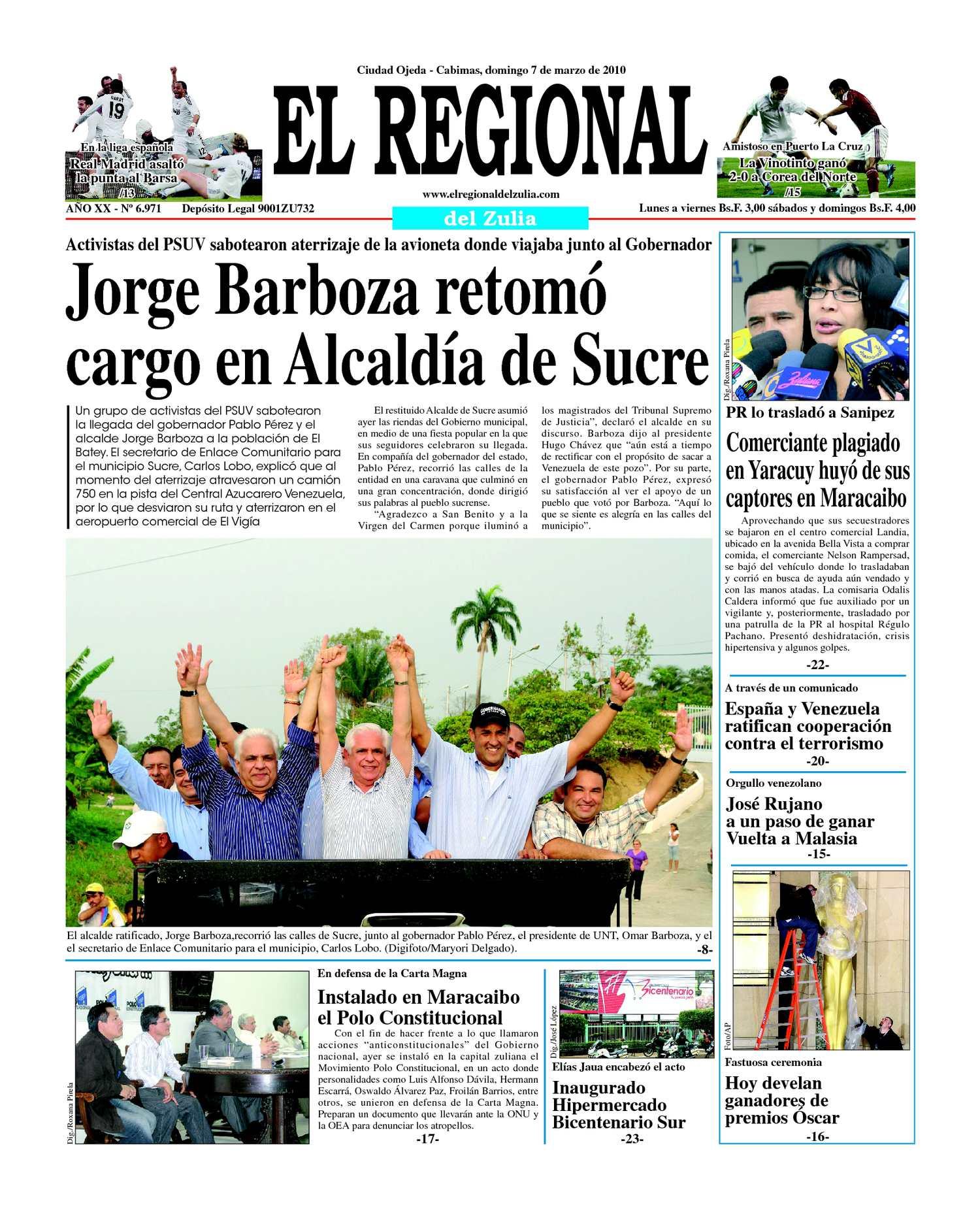 El Regional del Zulia | 07-03-2010