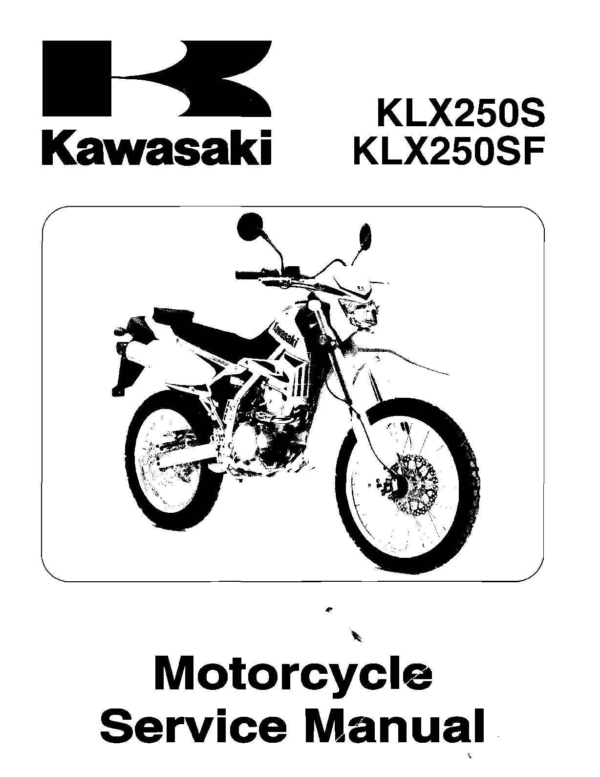 calam o manual de taller kawasaki klx250 en ingl s rh calameo com Kawasaki ATV Kawasaki Oil