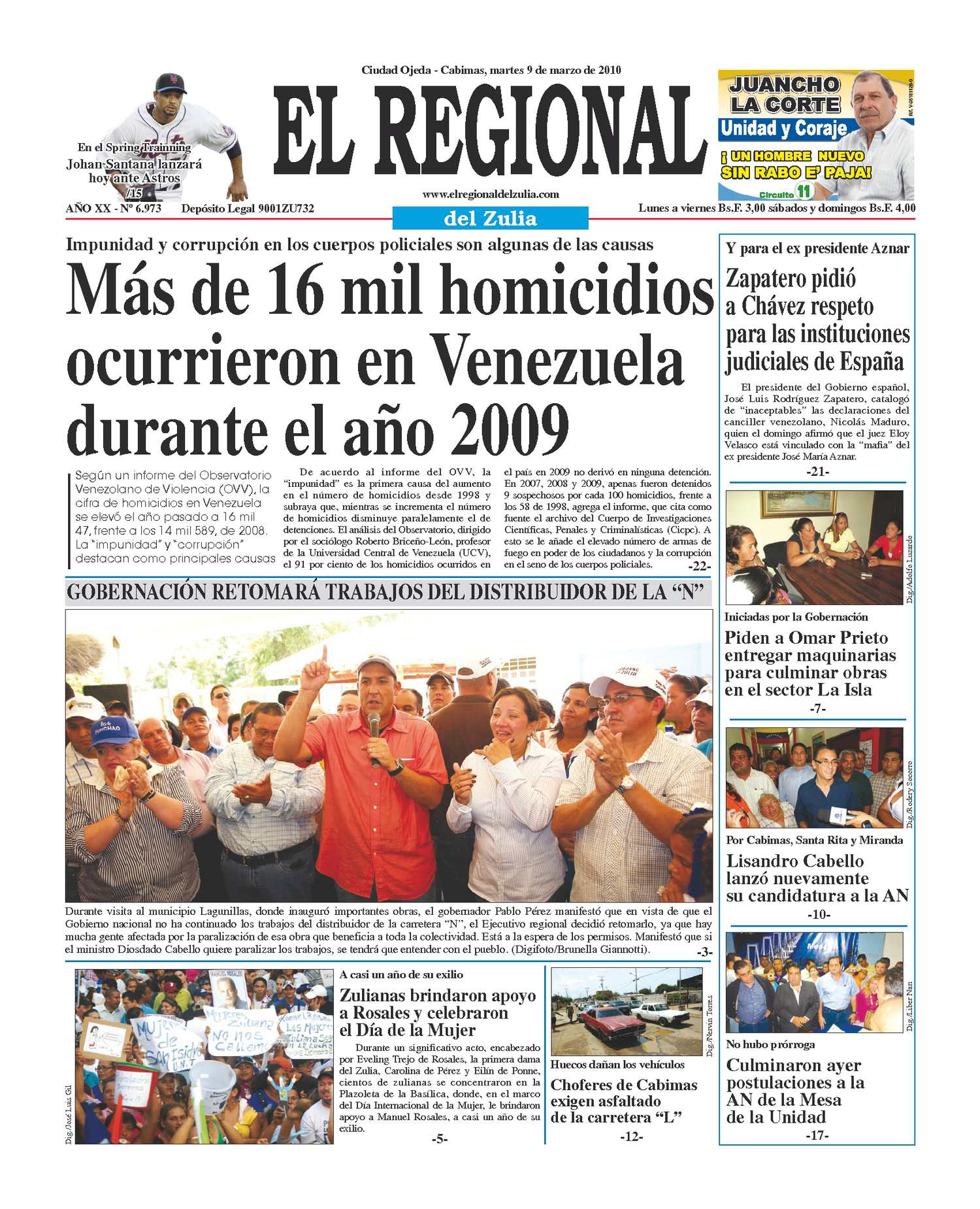 El Regional del Zulia 09-03-2010