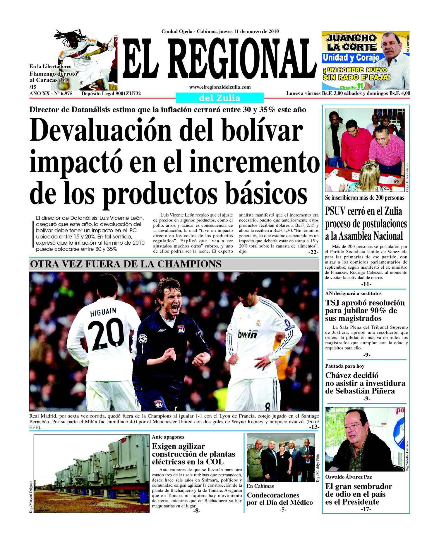 El Regional del Zulia 11-03-2010