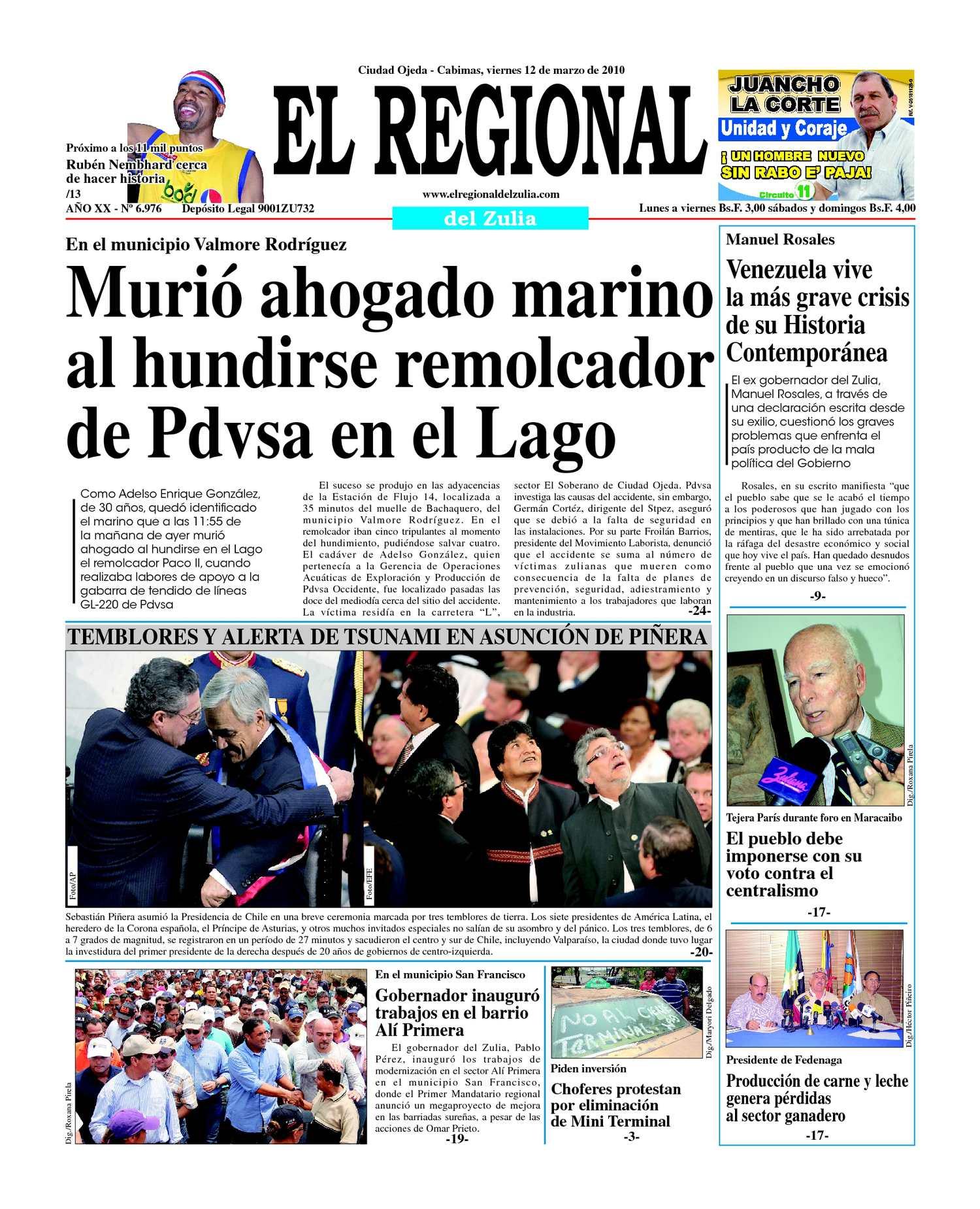 El Regional del Zulia 12-03-2010