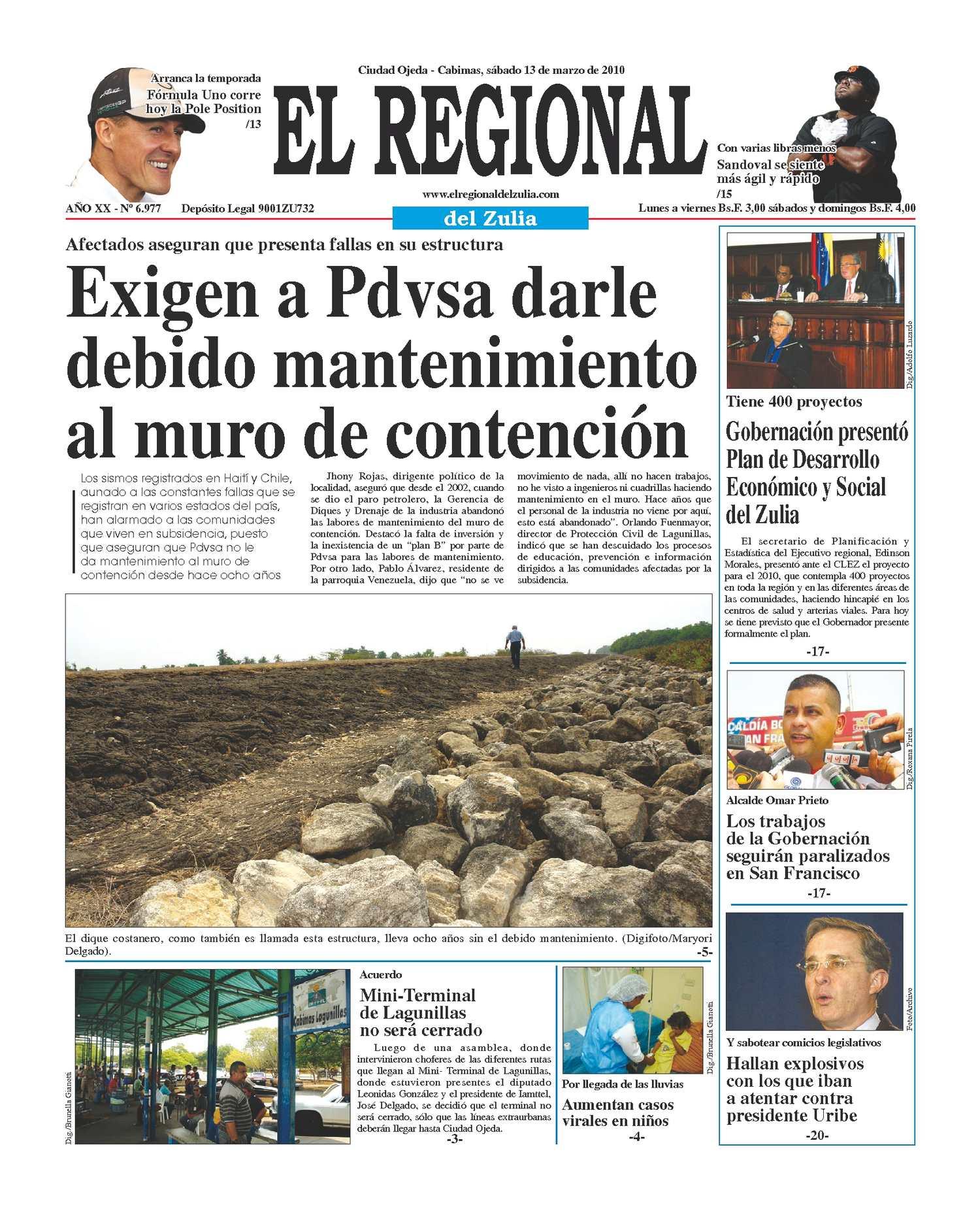 El Regional del Zulia 13-03-2010