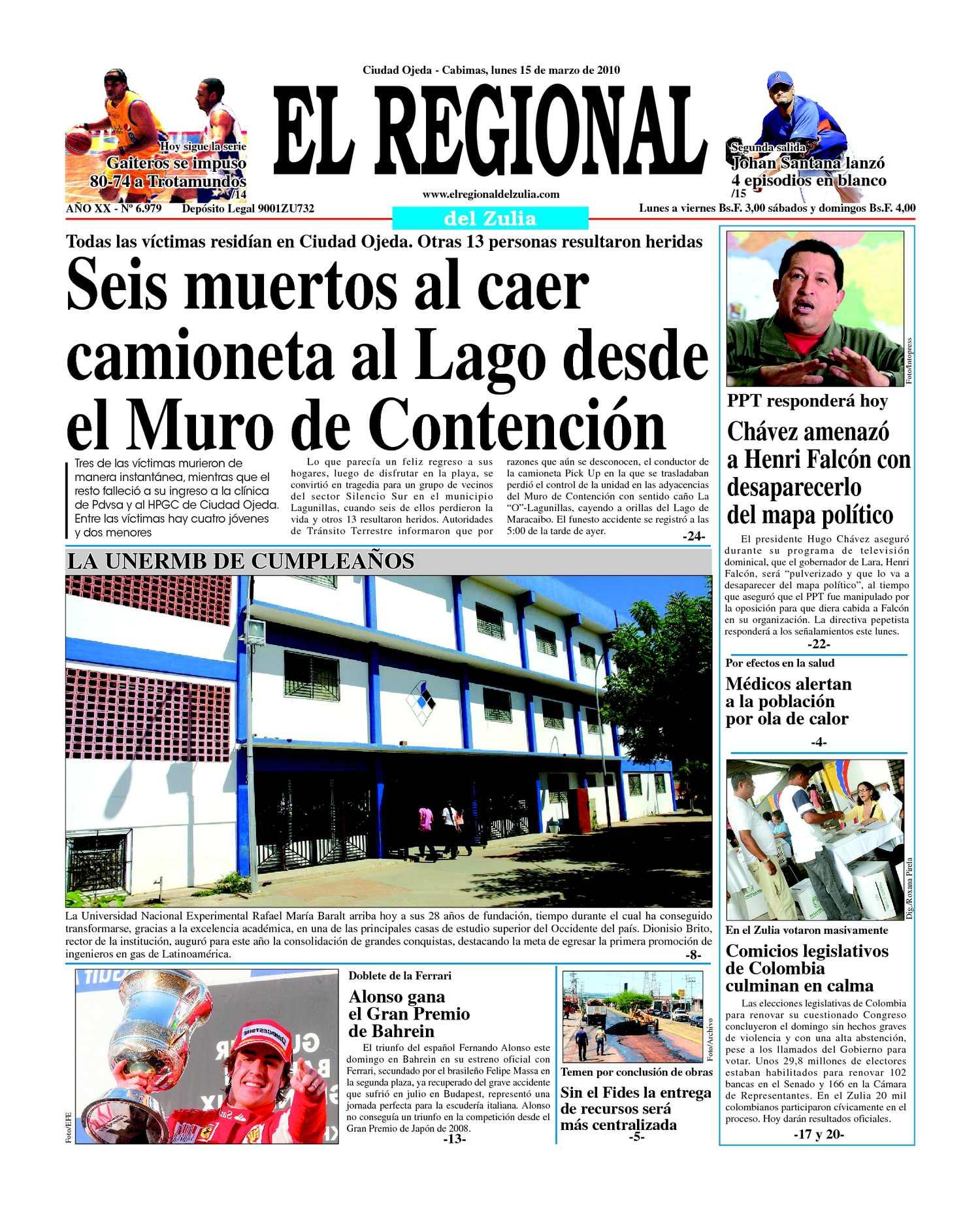El Regional del Zulia 15-03-2010