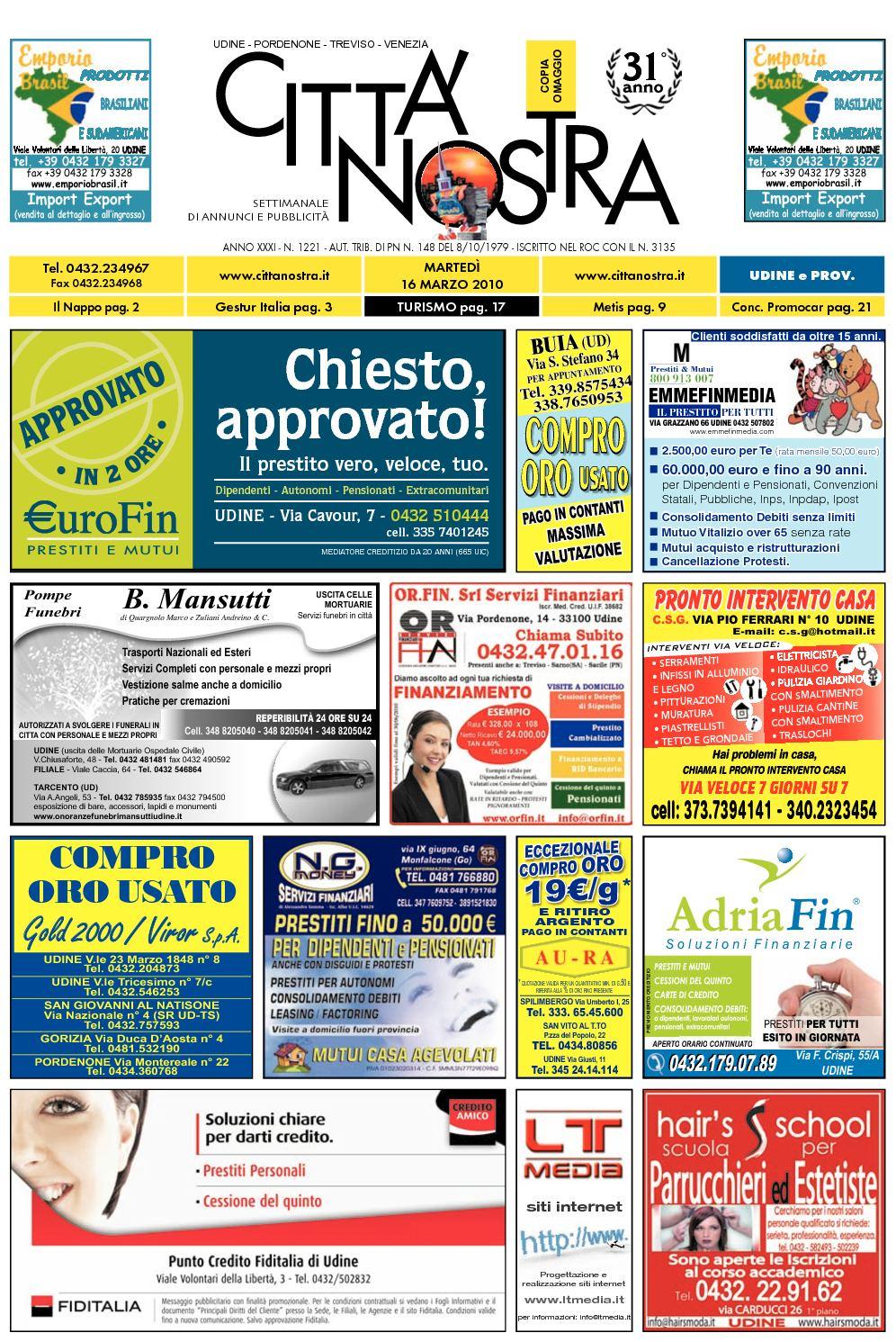 Calaméo Citt Nostra Udine Del 16 03 2010 N 1221