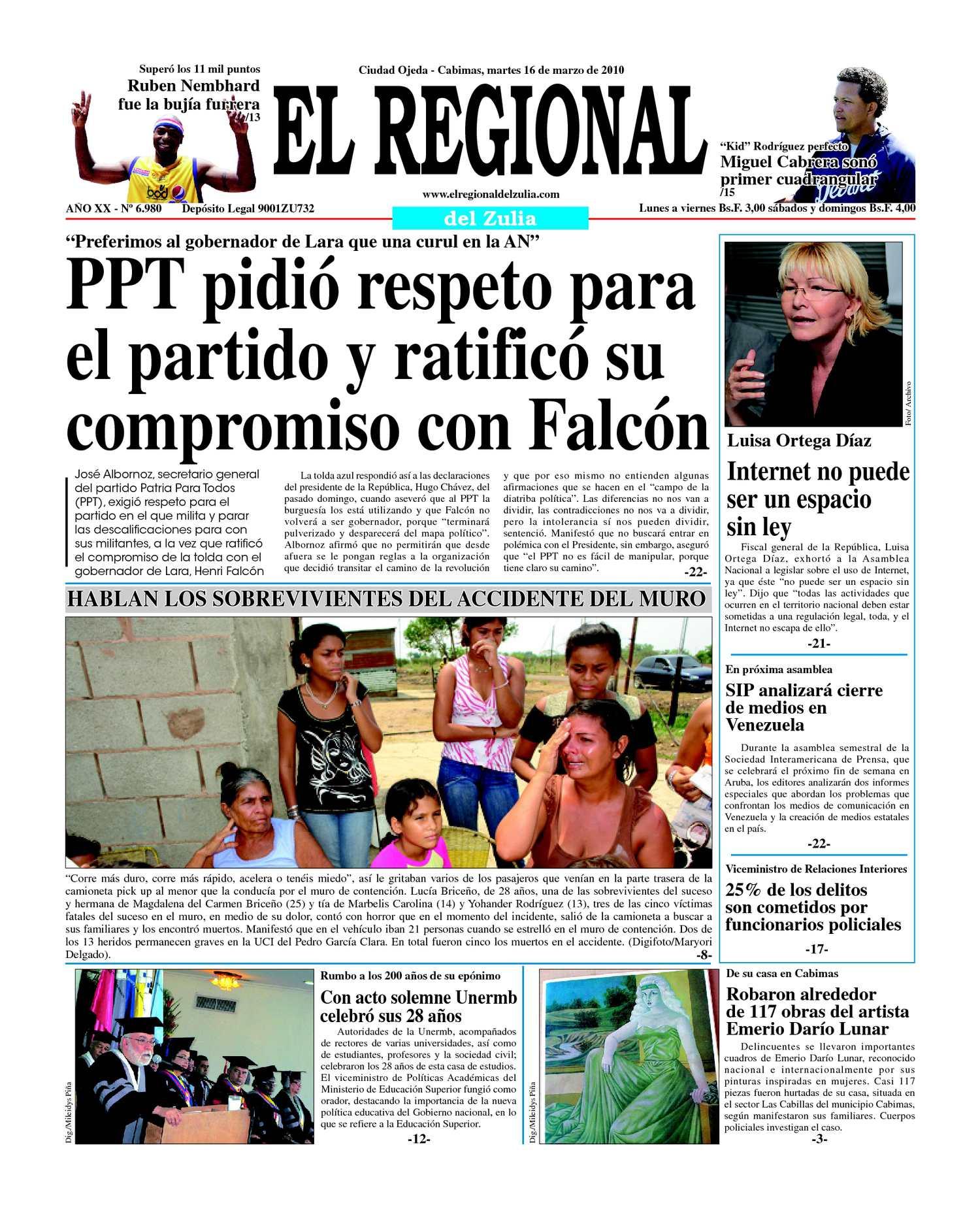 El Regional del Zulia 16-03-2010