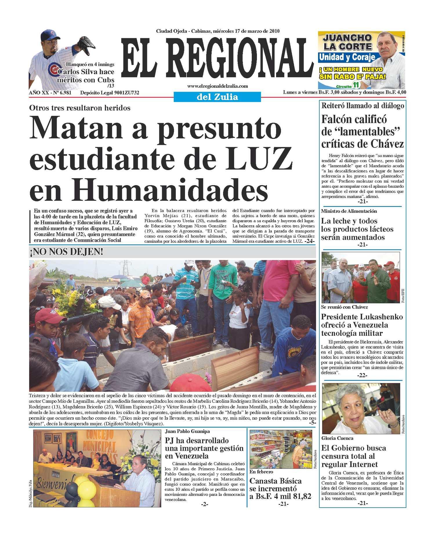 El Regional del Zulia | 17-03-2010