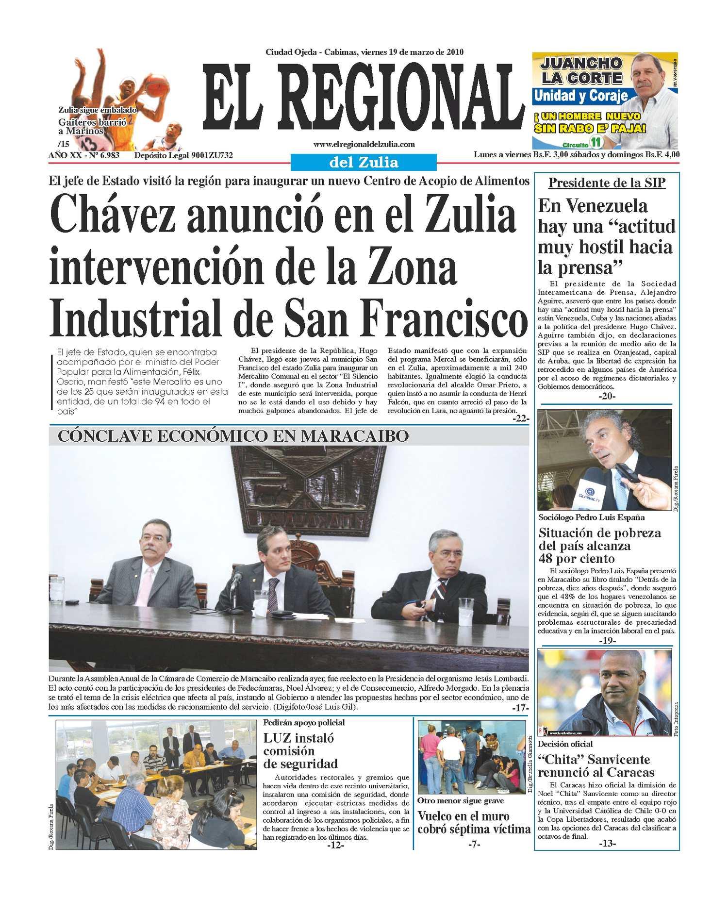 El Regional del Zulia 19-03-2010