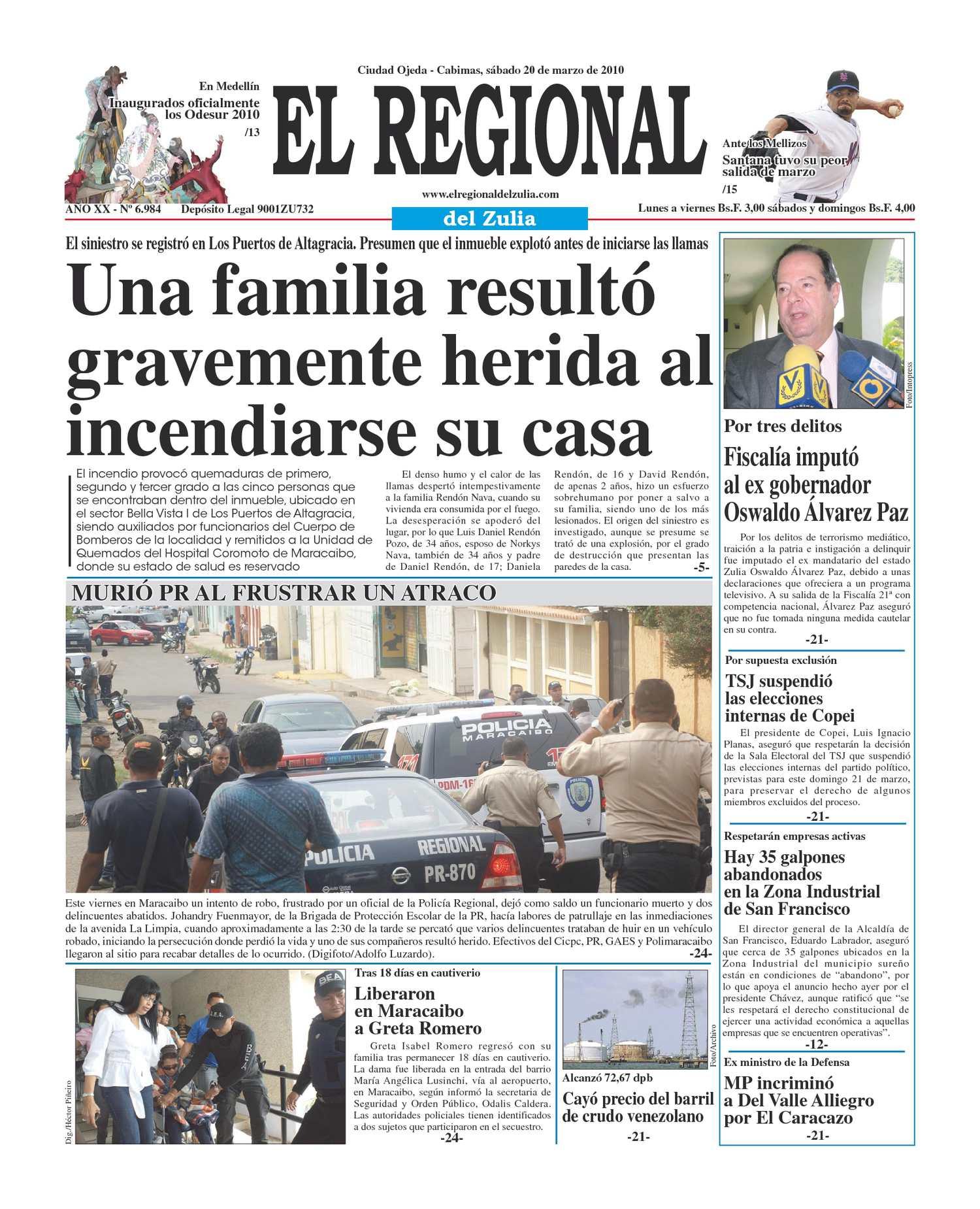 El Regional del Zulia 20-03-2010
