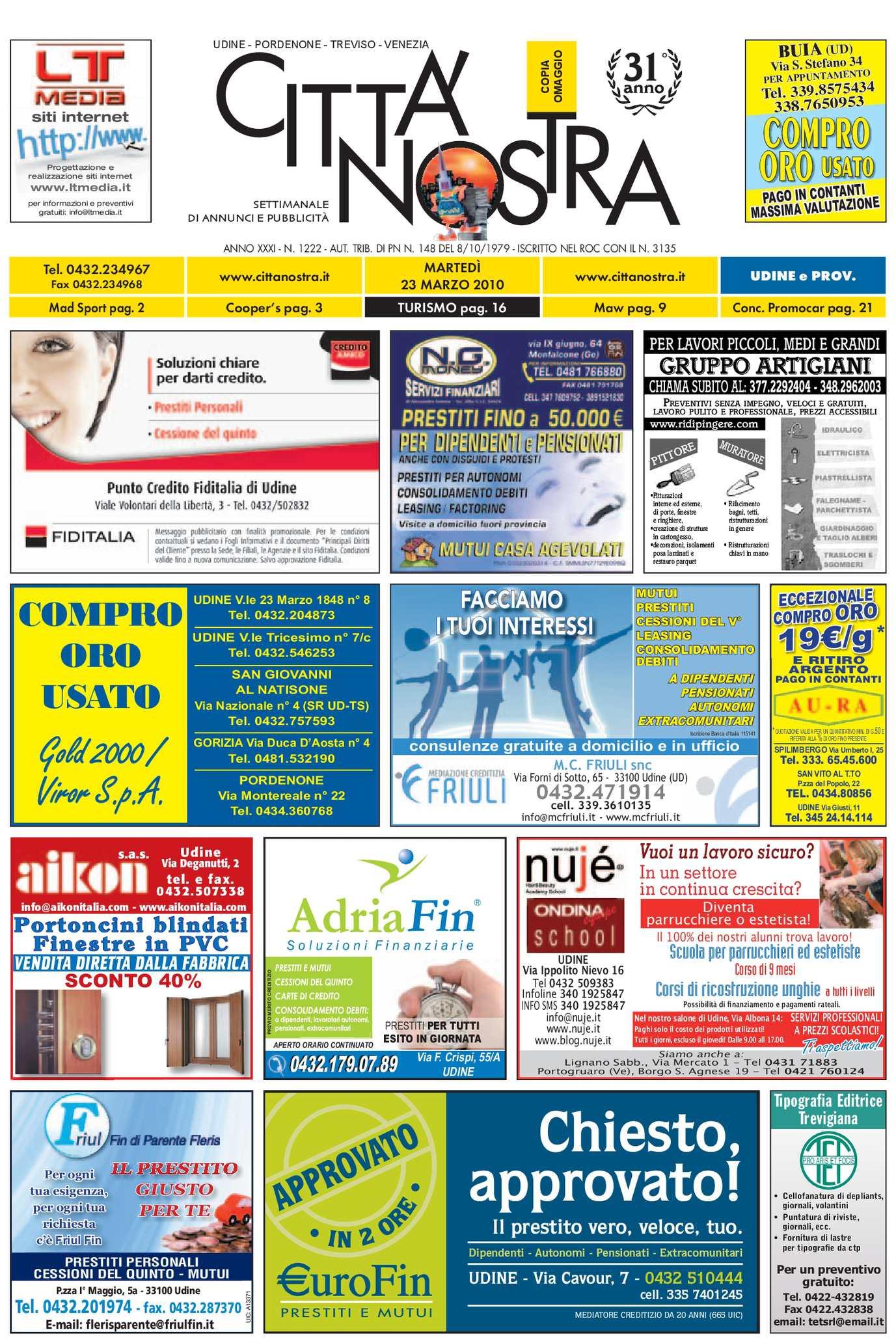 calaméo - città nostra udine del 23.03.2010 n. 1222 - Alluminio Sedia Imbragatura Per La Decorazione Del Patio