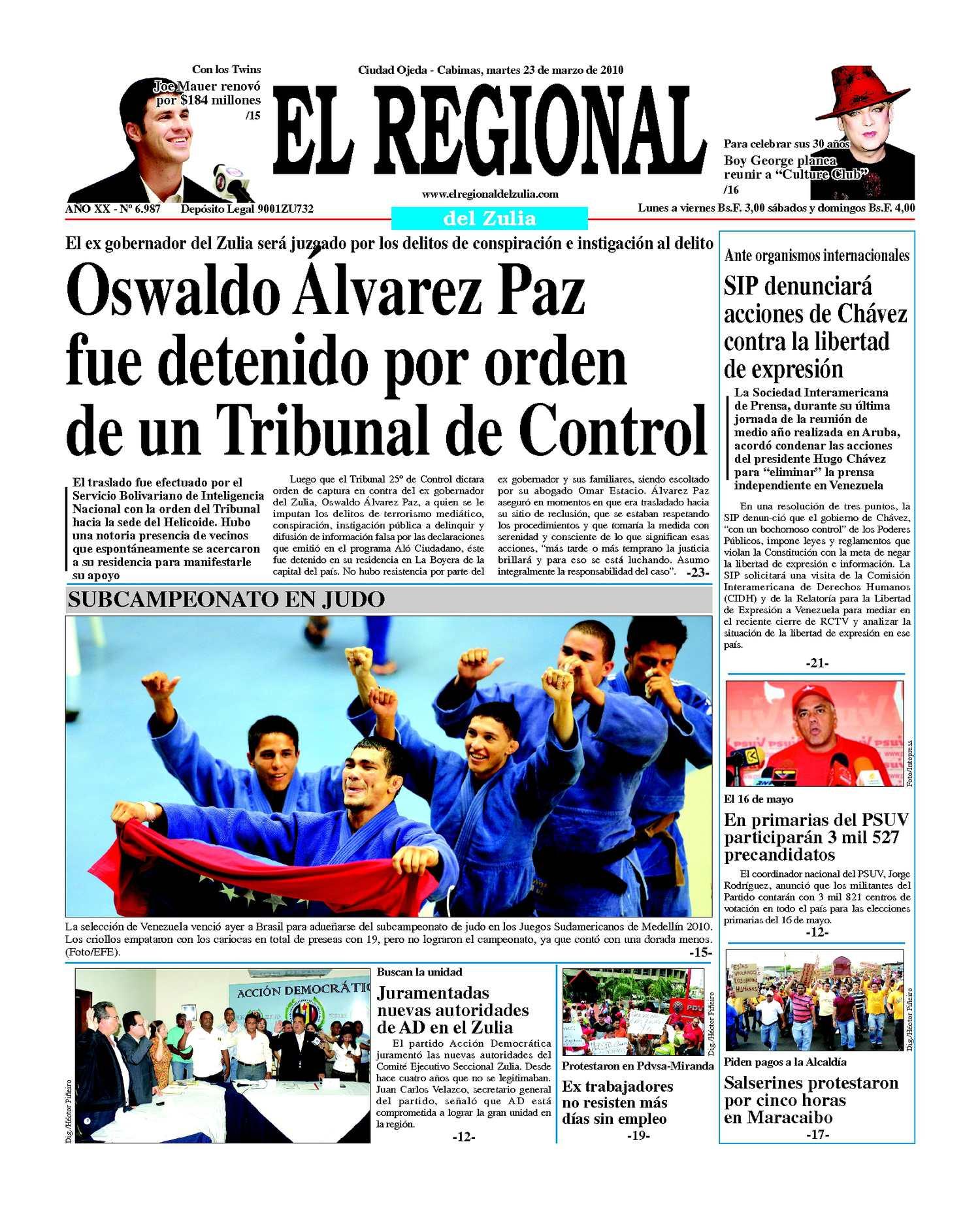 El Regional del Zulia | 23-03-2010