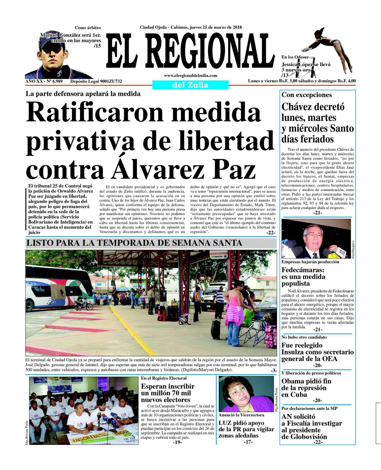 El Regional del Zulia 25-03-2010