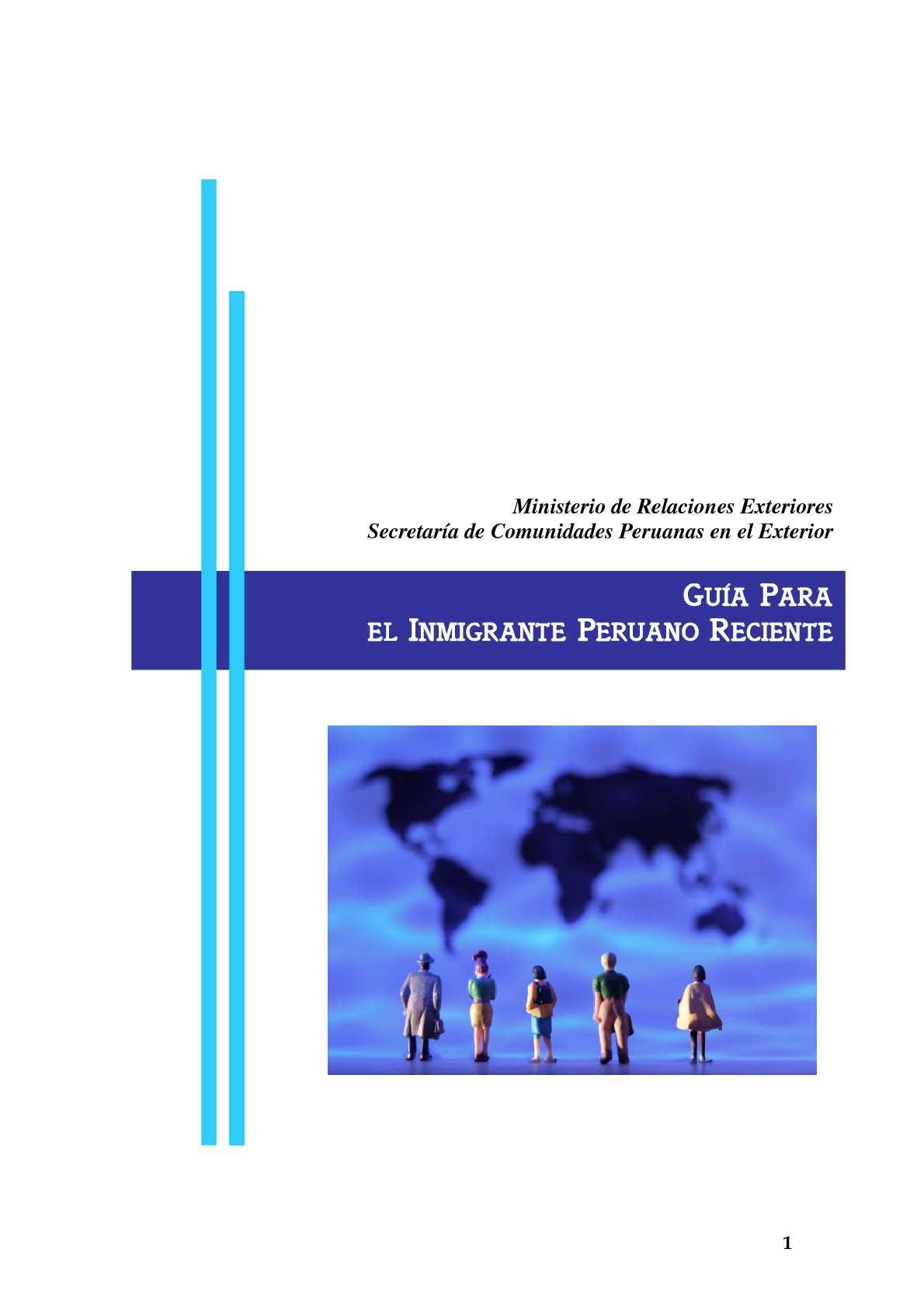 Calaméo - Guía para el Inmigrante peruano reciente