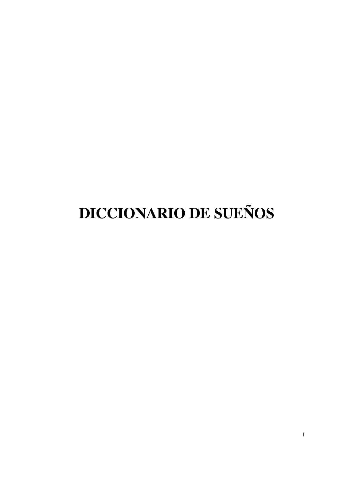 Calaméo - DICCIONARIO DE SUEÑOS