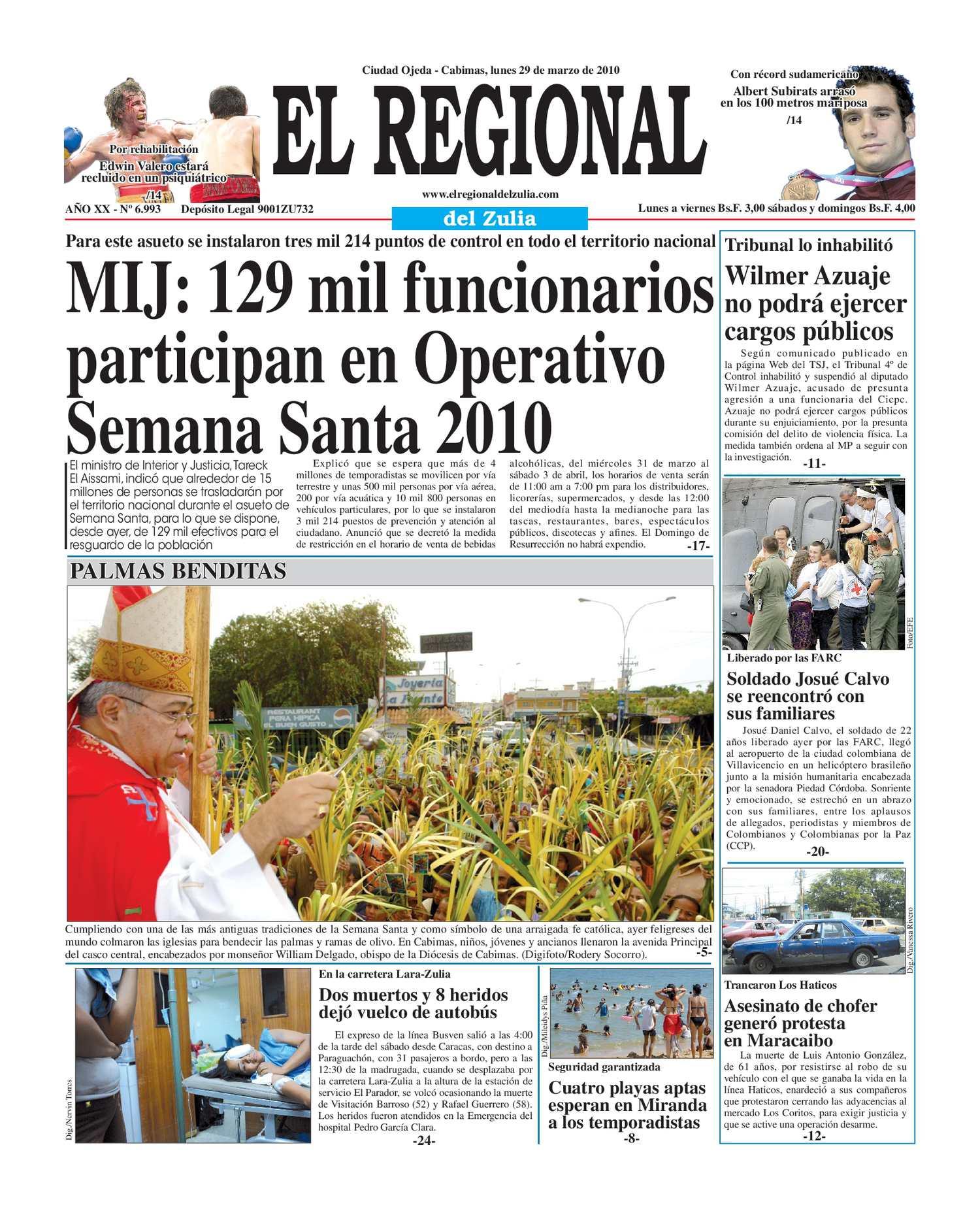 El Regional del Zulia 29-03-2010