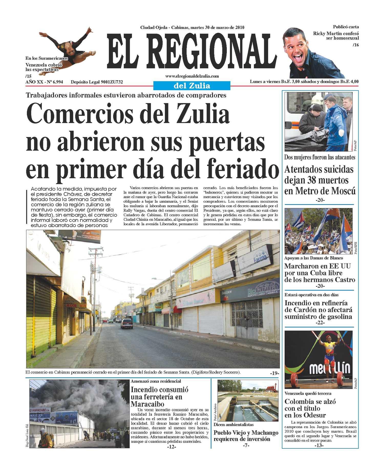El Regional del Zulia 30-03-2010