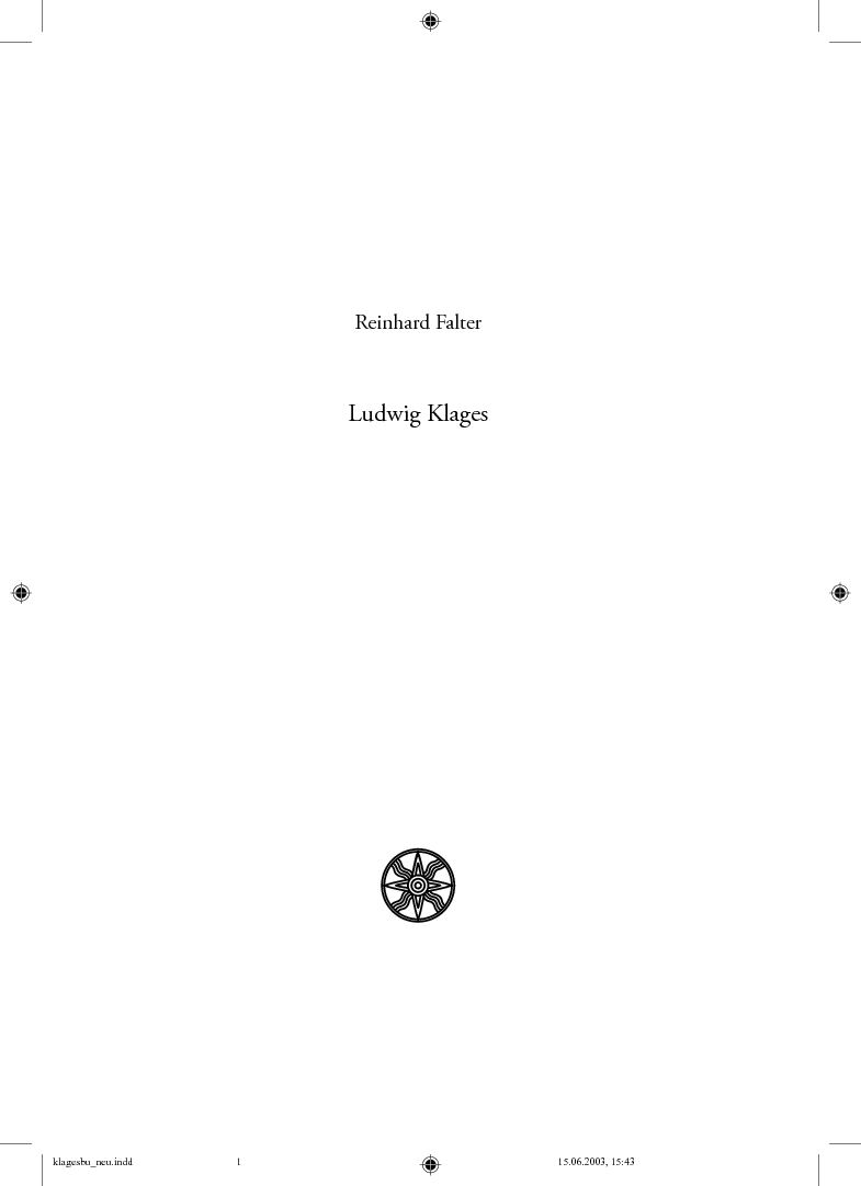 Calaméo - Ludwig Klages als Lebensphilosoph