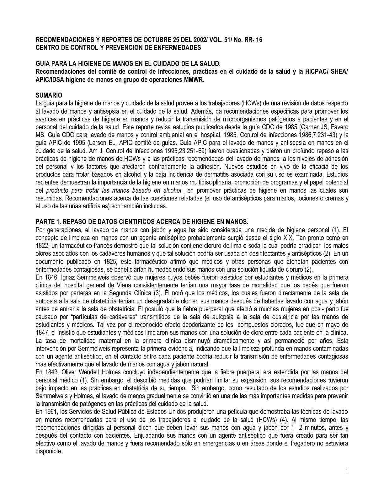 Calaméo - A TRADUCCION CDC ATLANTA HIGIENE DE MANOS